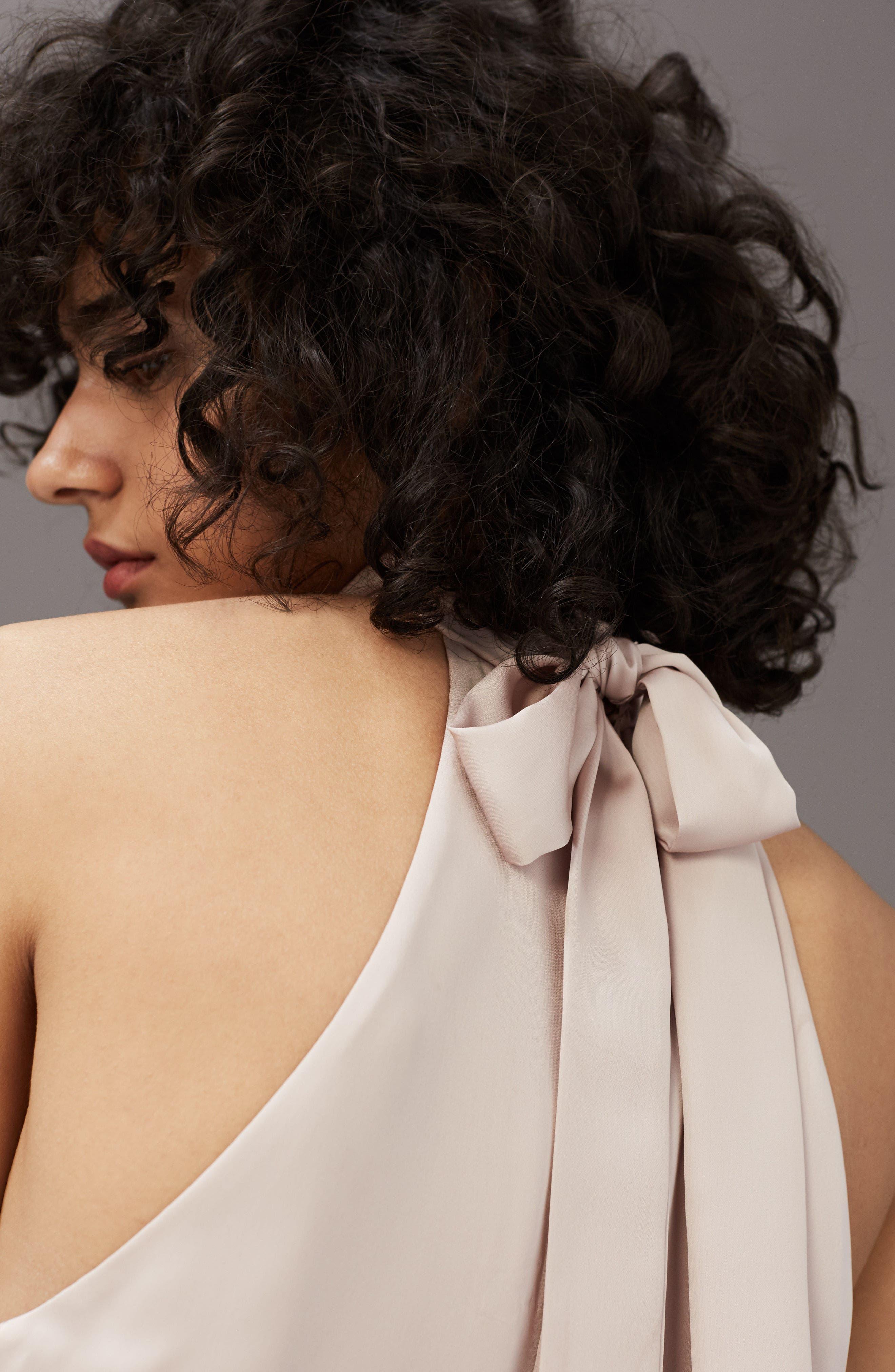 Alternate Image 6  - ASTR the Label Satin Midi Dress