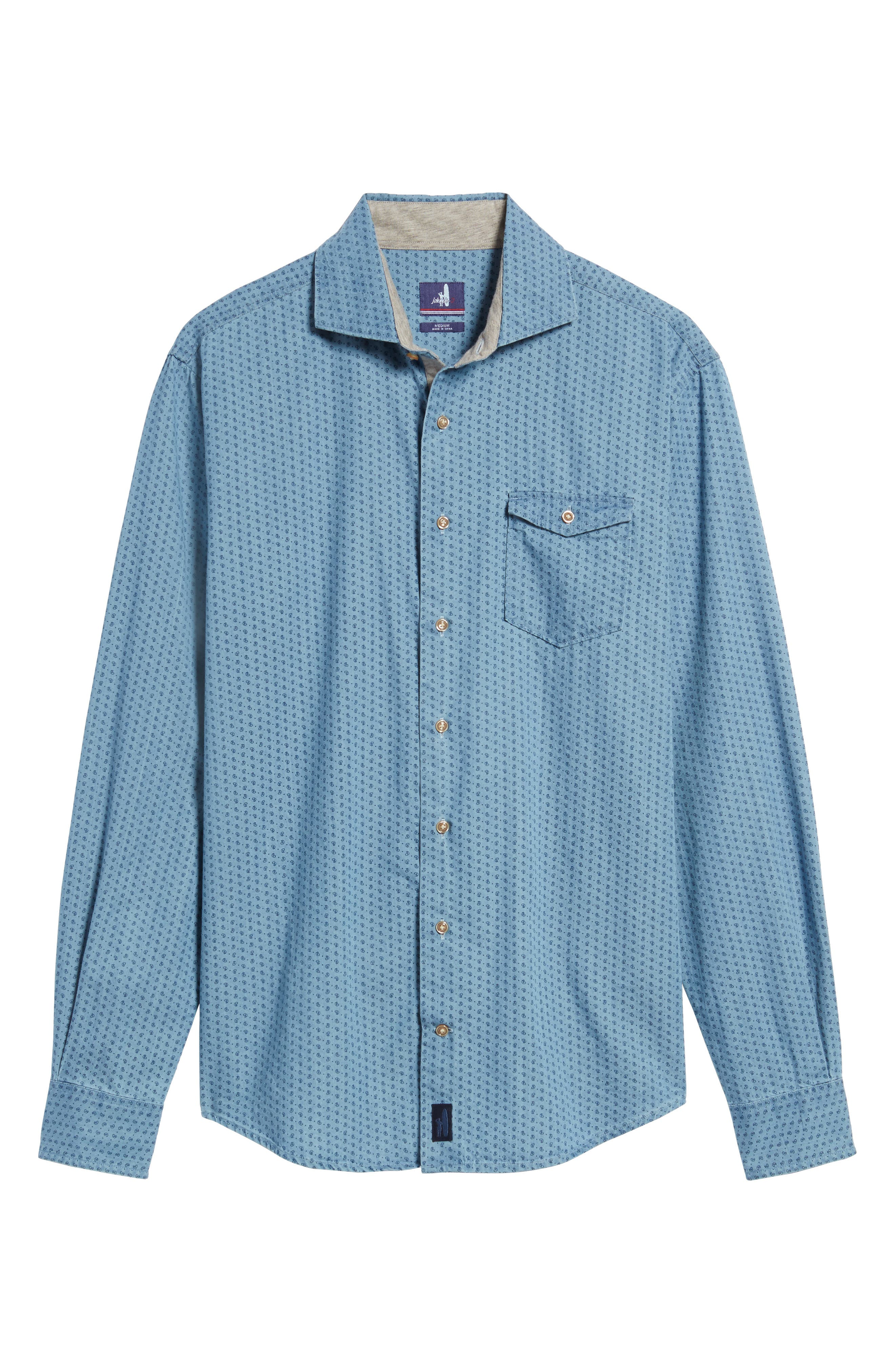 Alternate Image 6  - johnnie-O Capetown Classic Fit Paisley Sport Shirt