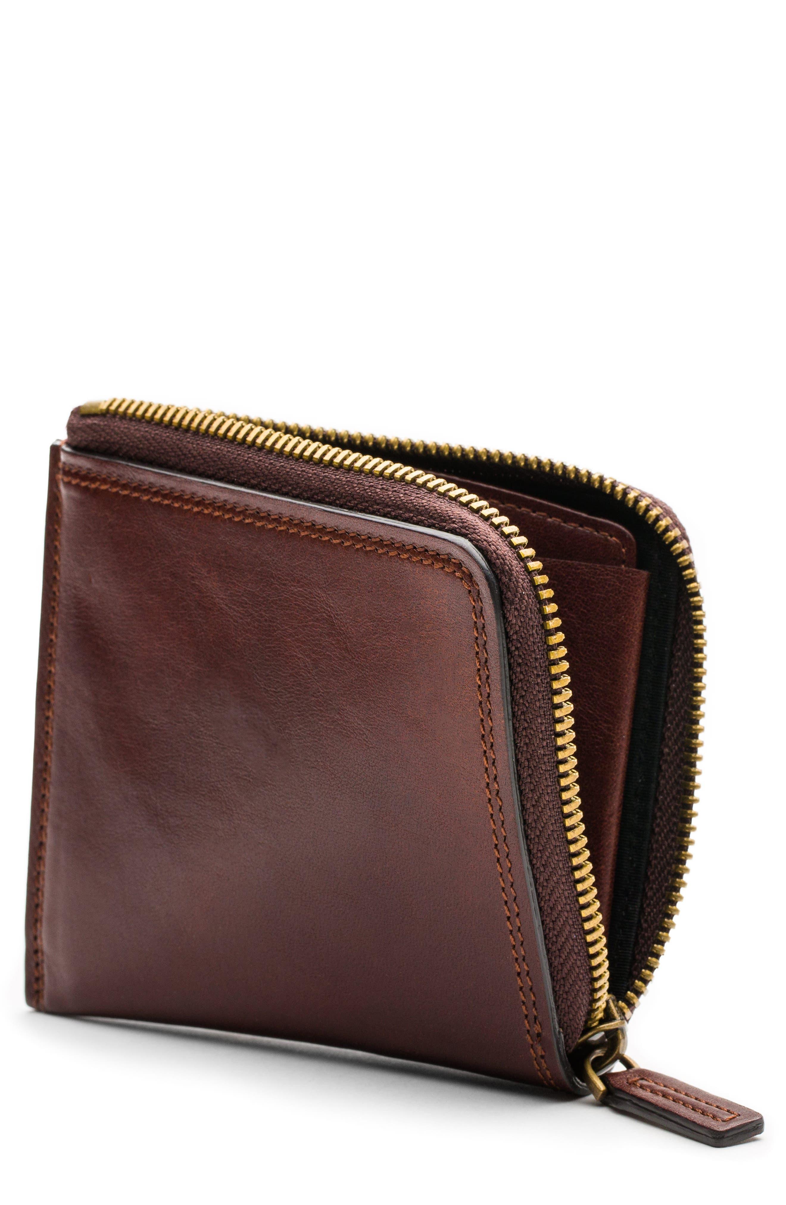 Bosca Dolce Leather Zip Wallet