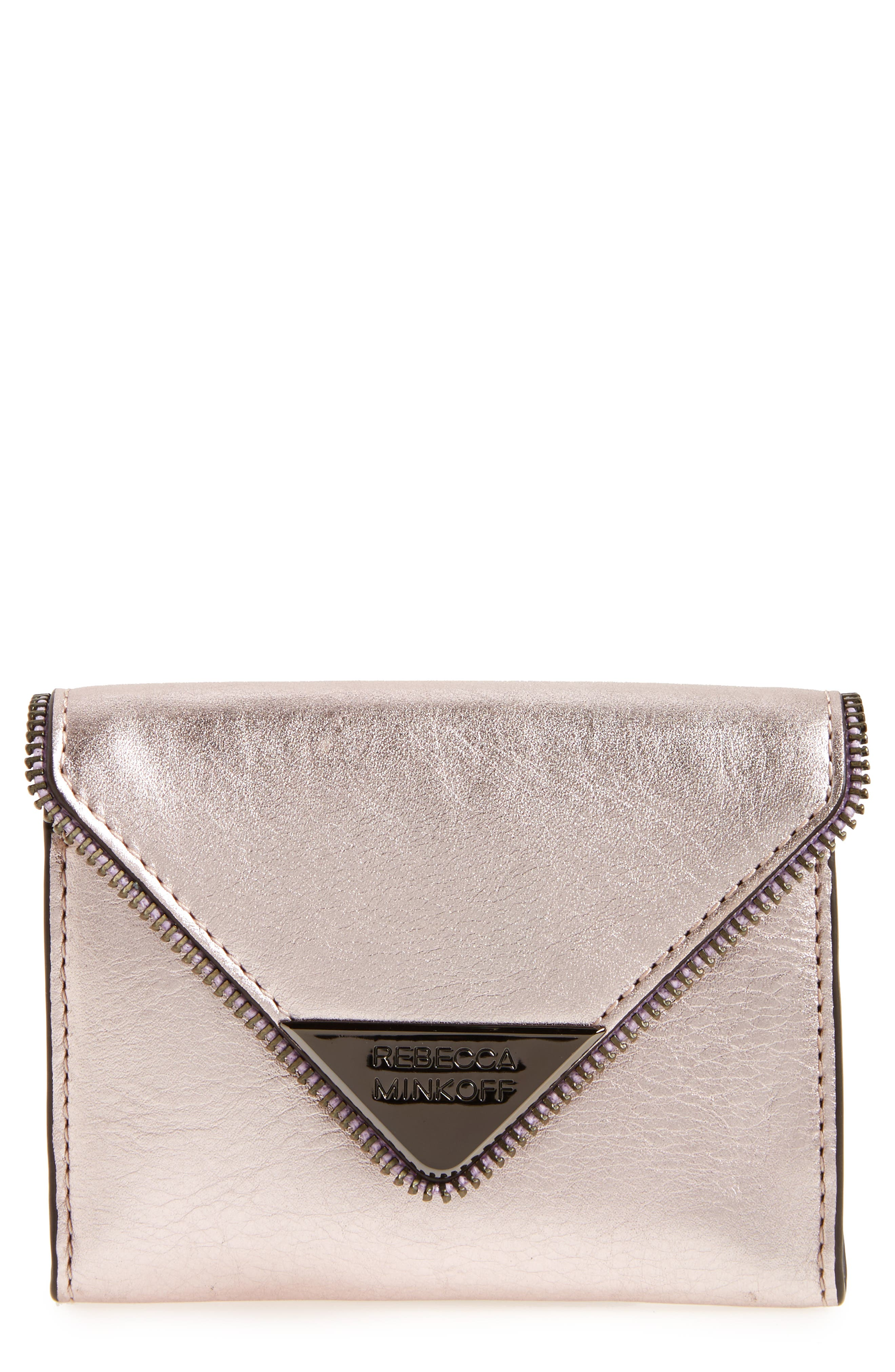 Main Image - Rebecca Minkoff Molly Metro Metallic Leather Wallet