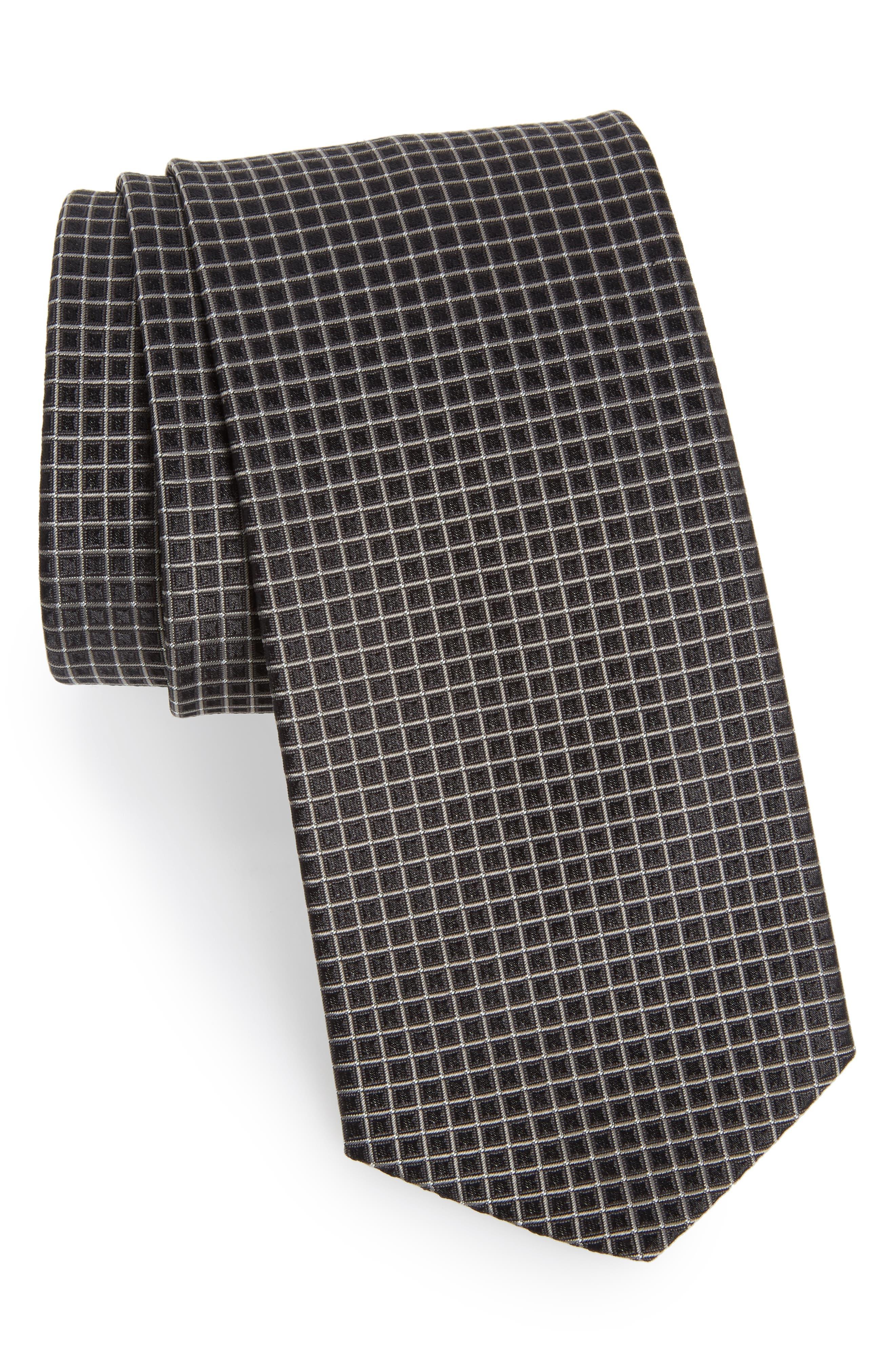 Main Image - BOSS Grid Silk Tie
