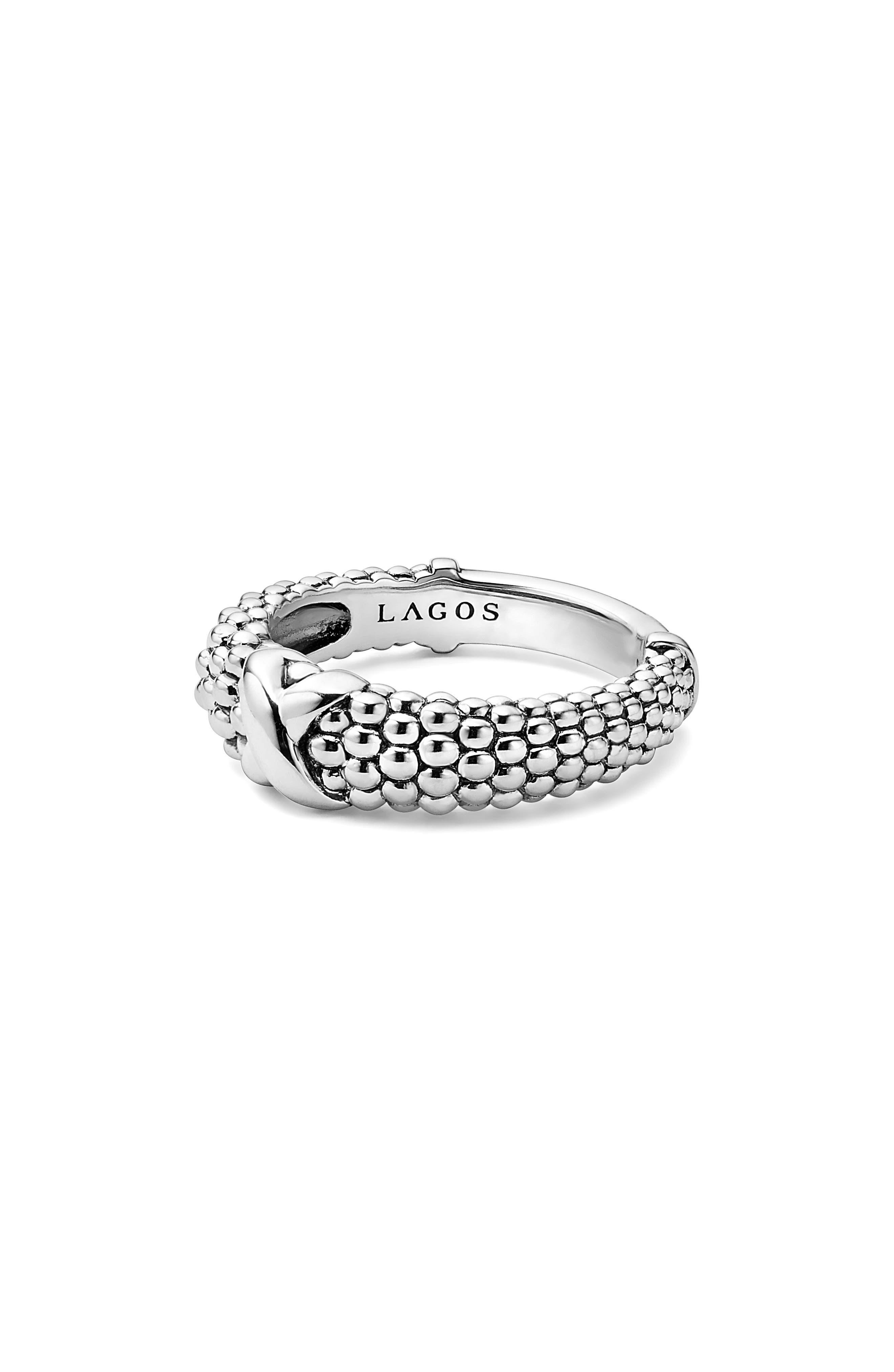 'Signature Caviar' Ring,                             Alternate thumbnail 5, color,                             Silver
