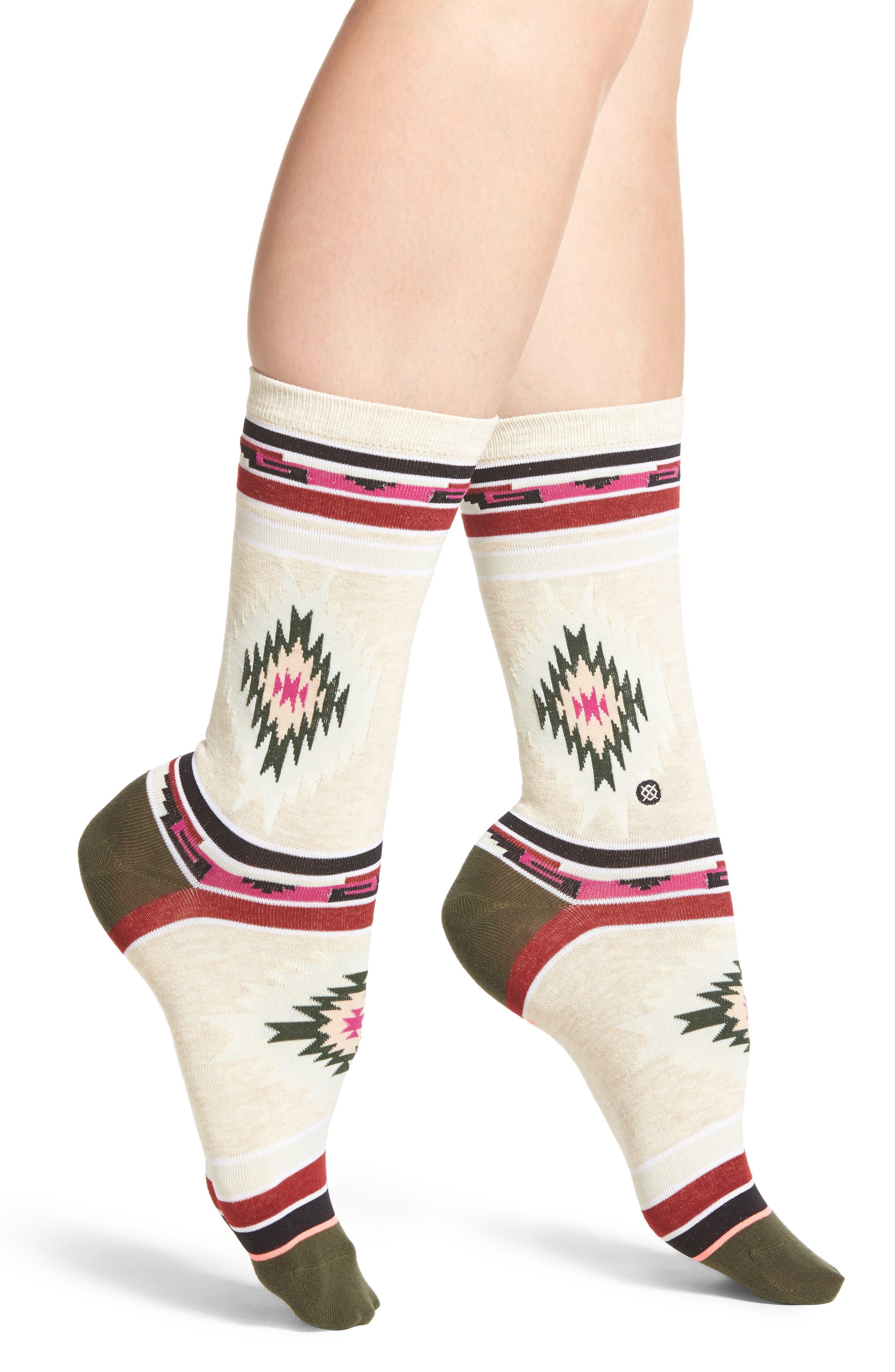 Krista Everyday Crew Socks,                         Main,                         color, Oatmeal Heather