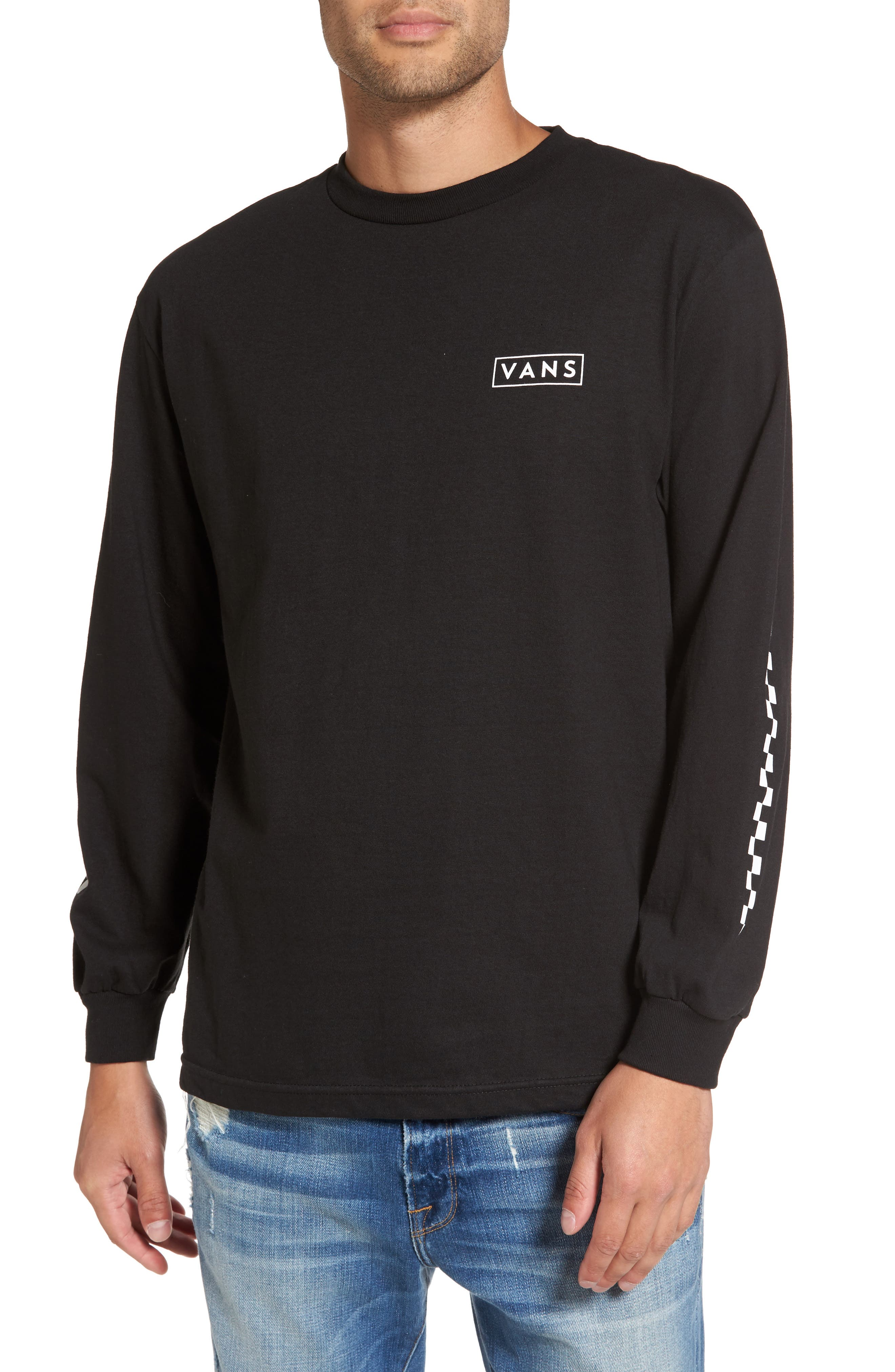 Alternate Image 1 Selected - Vans Checkmate Long Sleeve Graphic T-Shirt