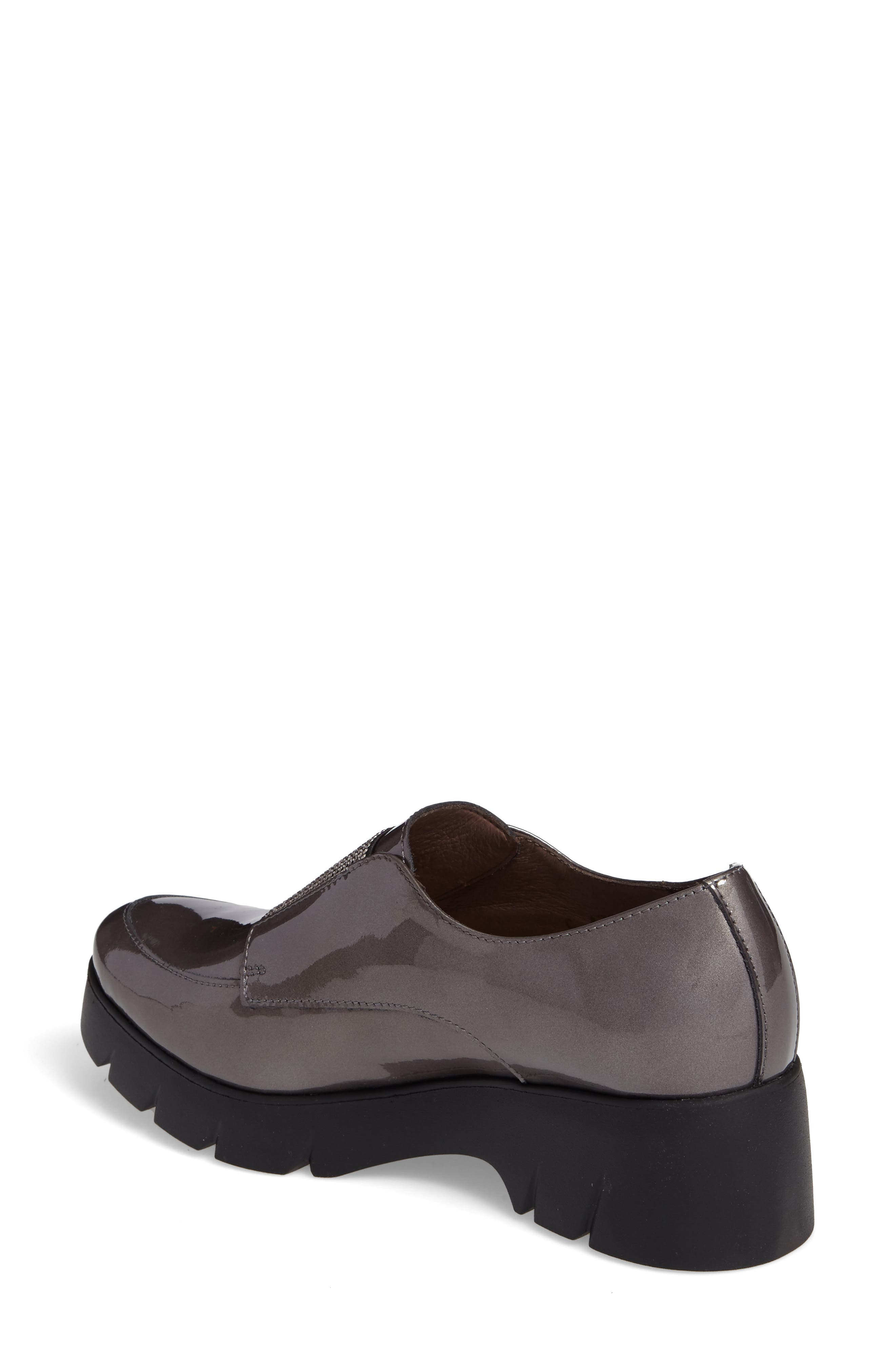 Loafer Flat,                             Alternate thumbnail 2, color,                             Silver Patent Leather