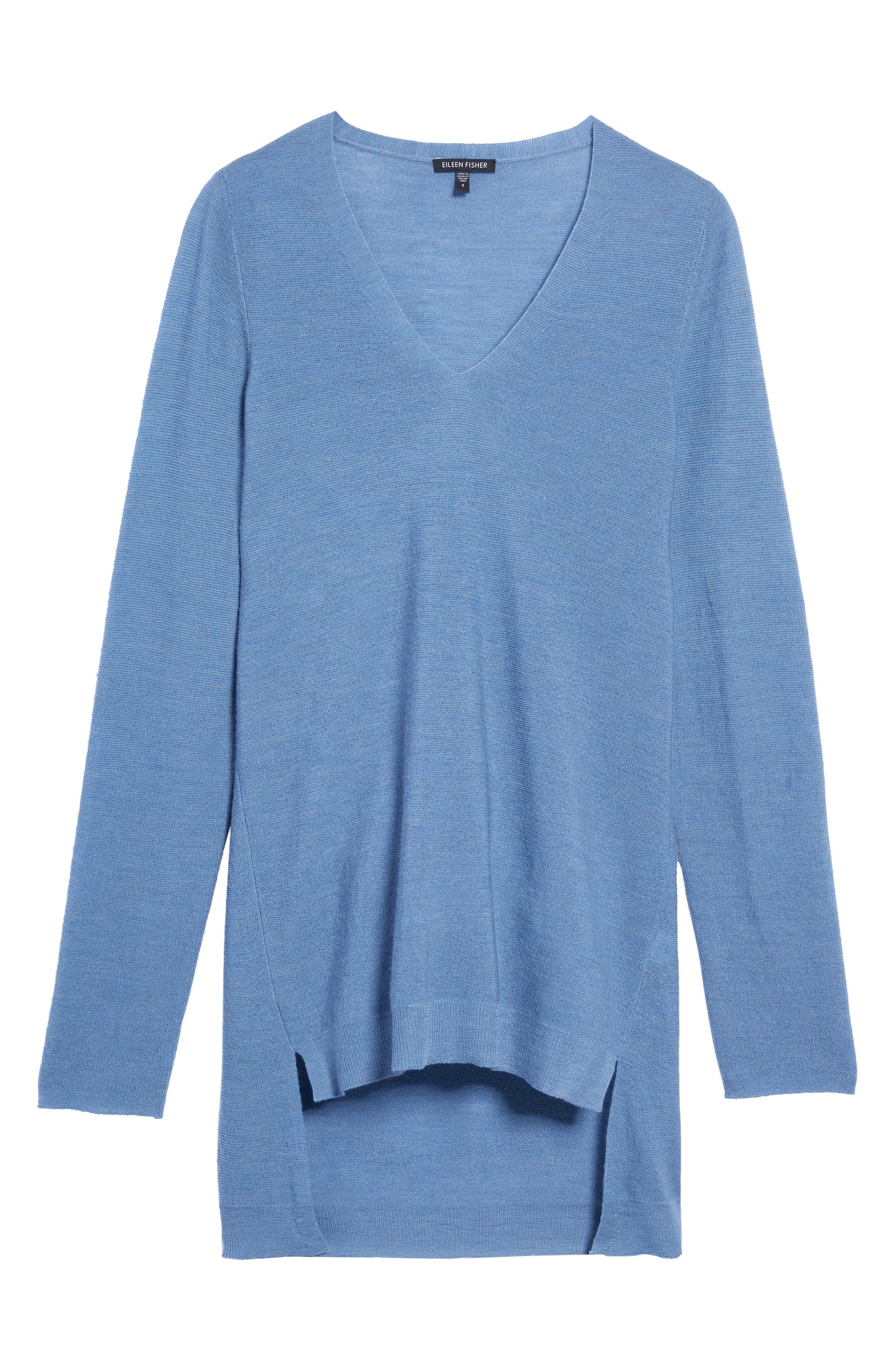 Alternate Image 6  - Eileen Fisher High/Low Merino Wool Sweater