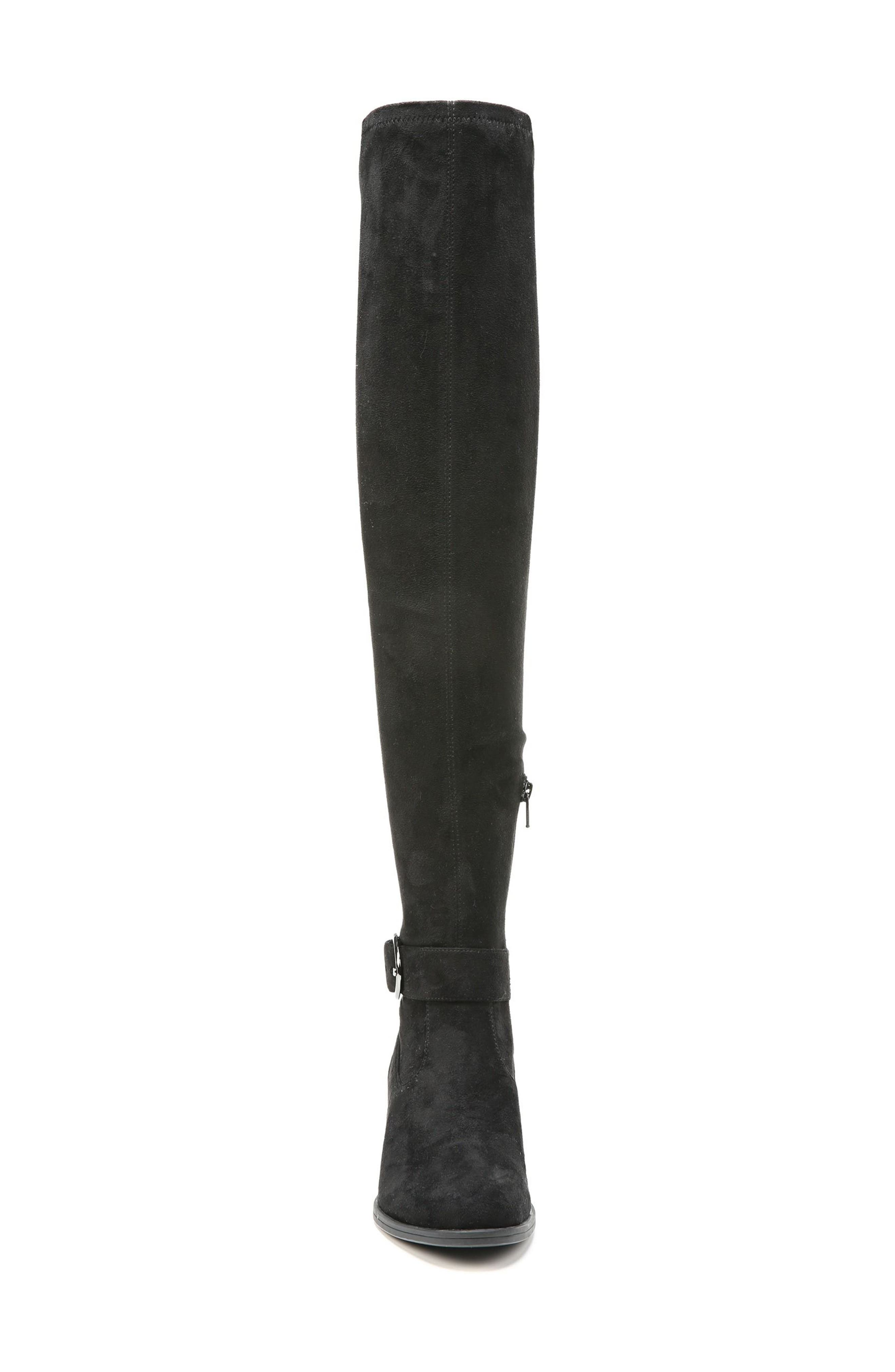 Dalyn Over the Knee Boot,                             Alternate thumbnail 5, color,                             Black Stretch Microfiber