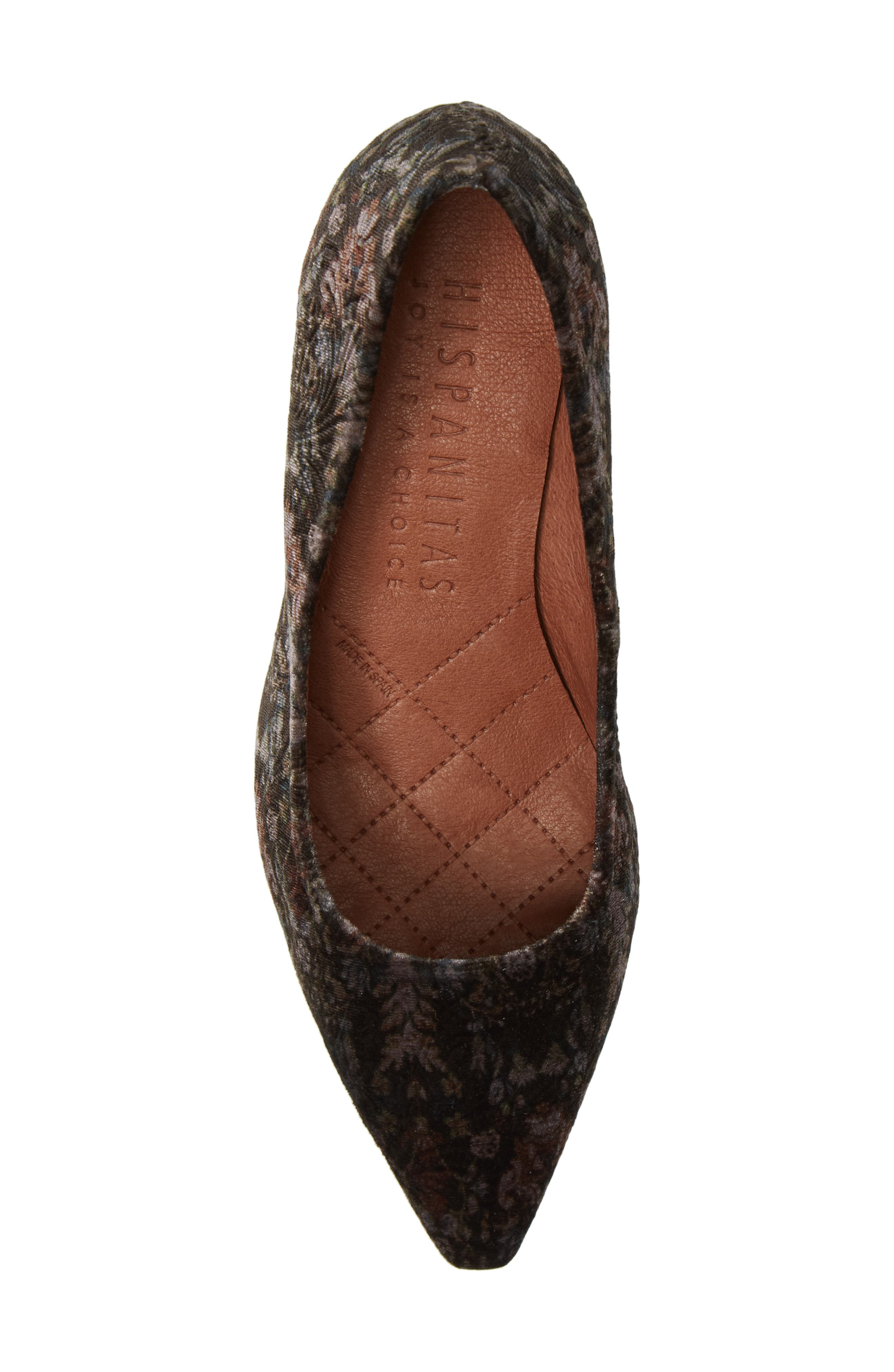 Carson Pointy Toe Pump,                             Alternate thumbnail 5, color,                             Grey Leather