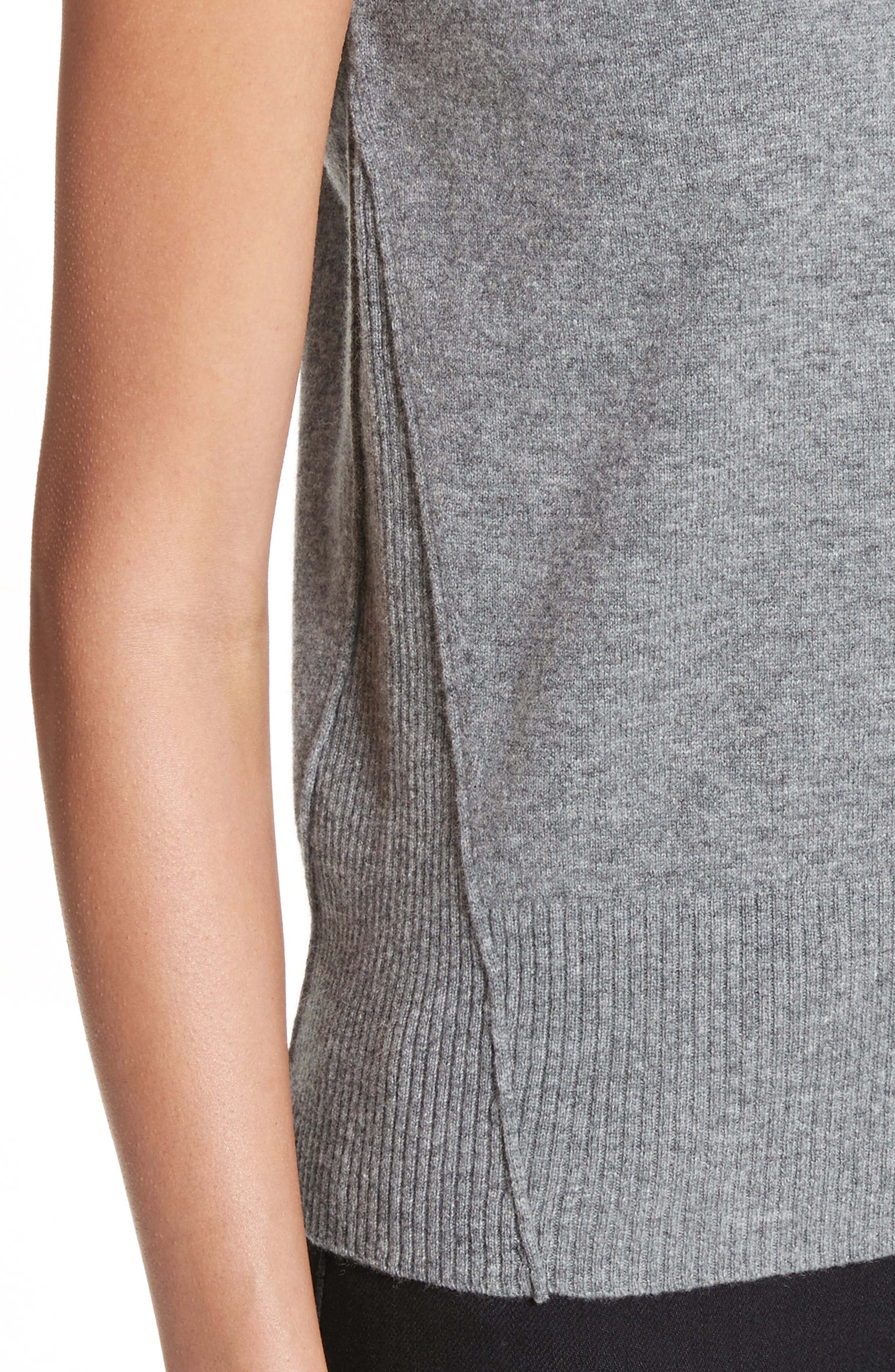 Wool & Cashmere Knit Top,                             Alternate thumbnail 4, color,                             Stone