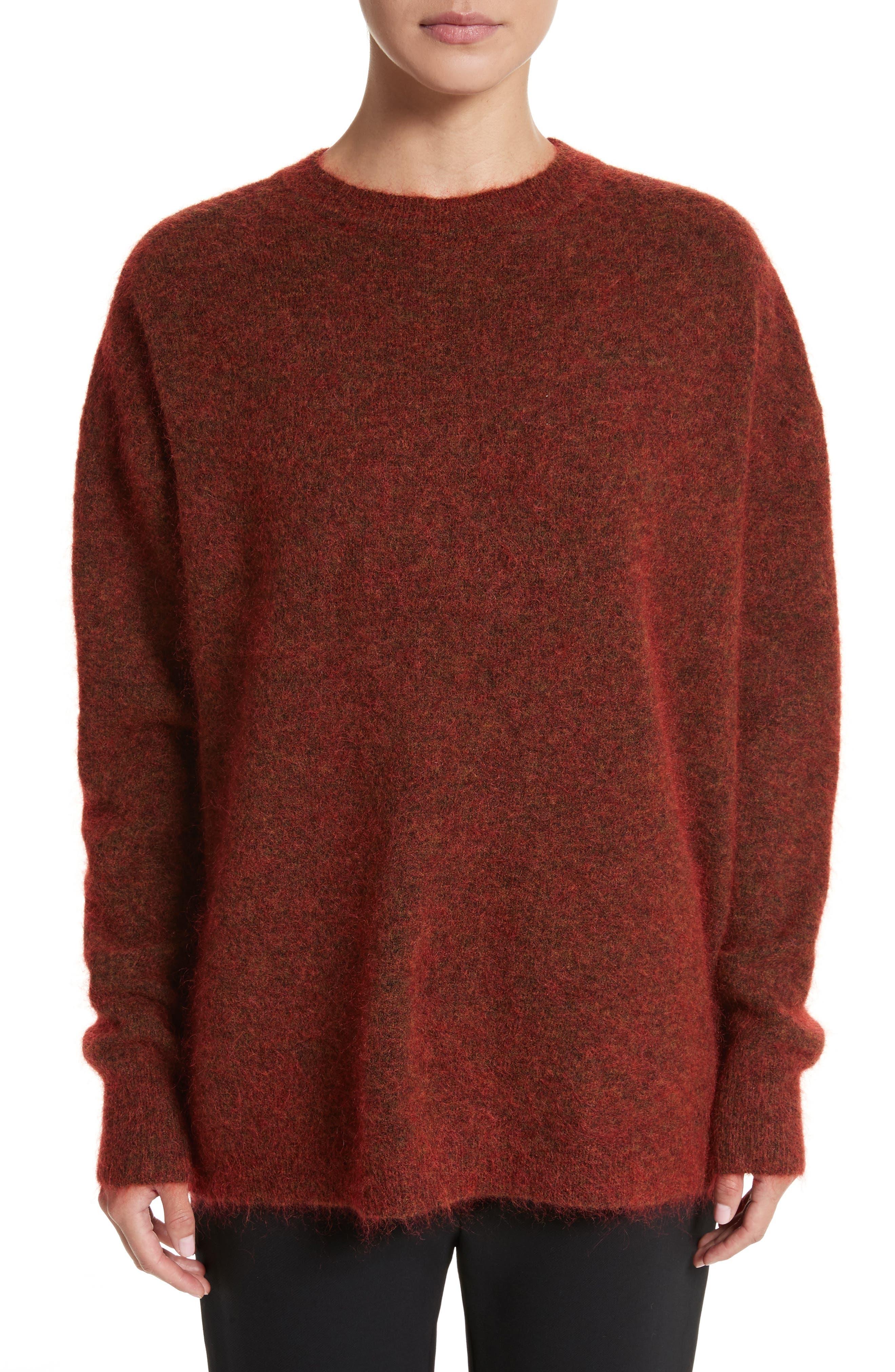 Tambourine Open Back Sweater,                         Main,                         color, Harissa