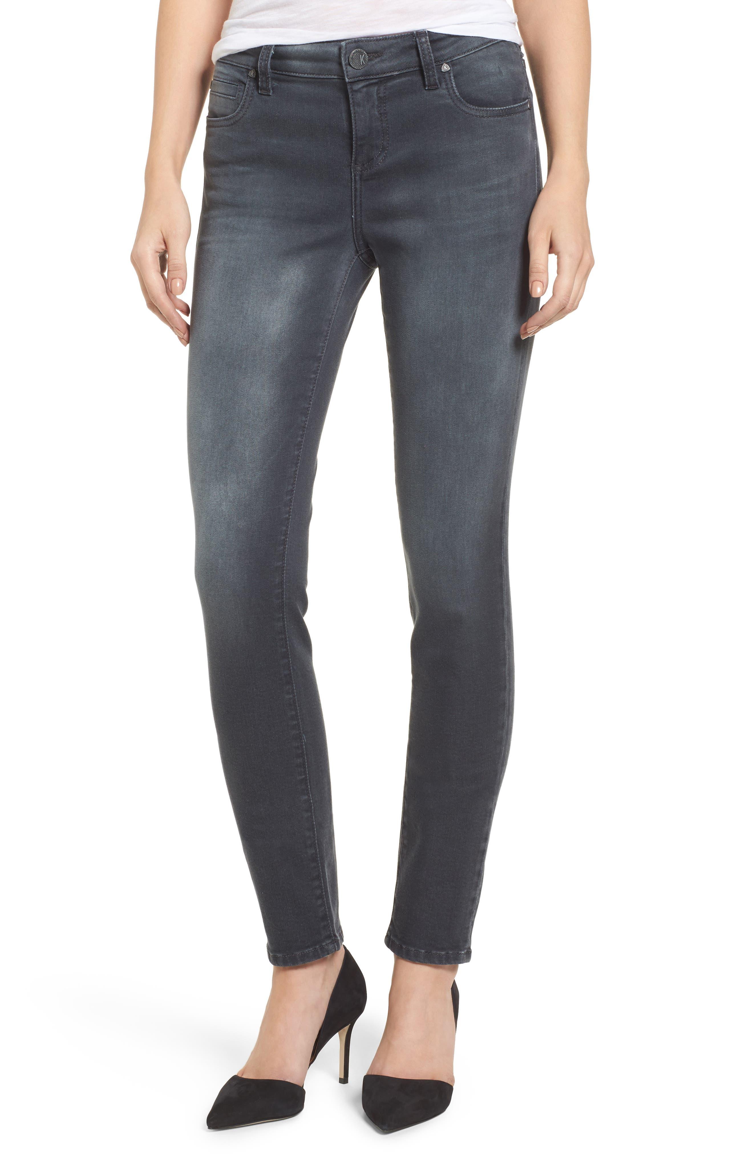 KUT from the Kloth Mia Toothpick Skinny Jeans (Model)
