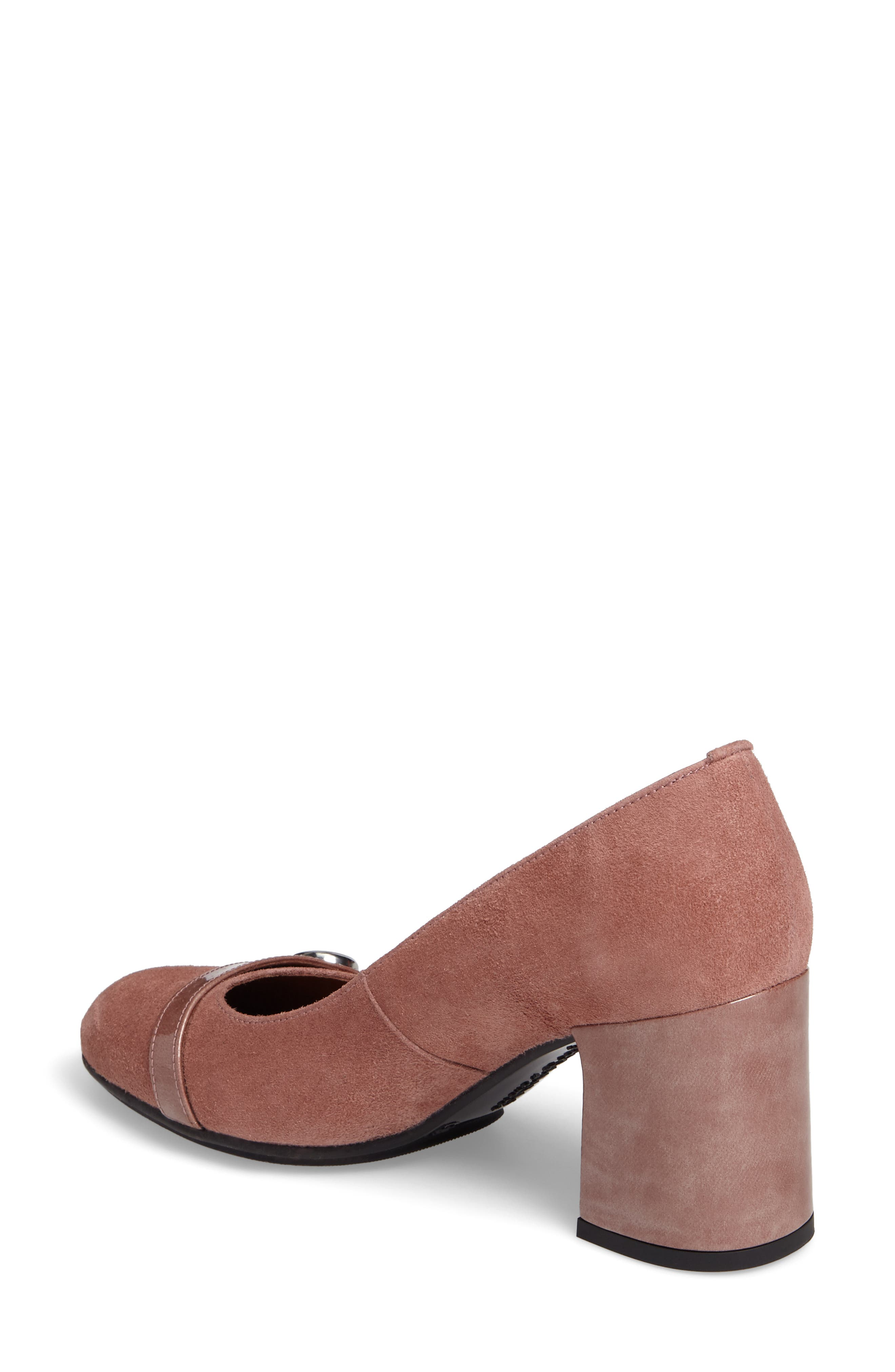 Gretchen Pump,                             Alternate thumbnail 2, color,                             Rose Leather