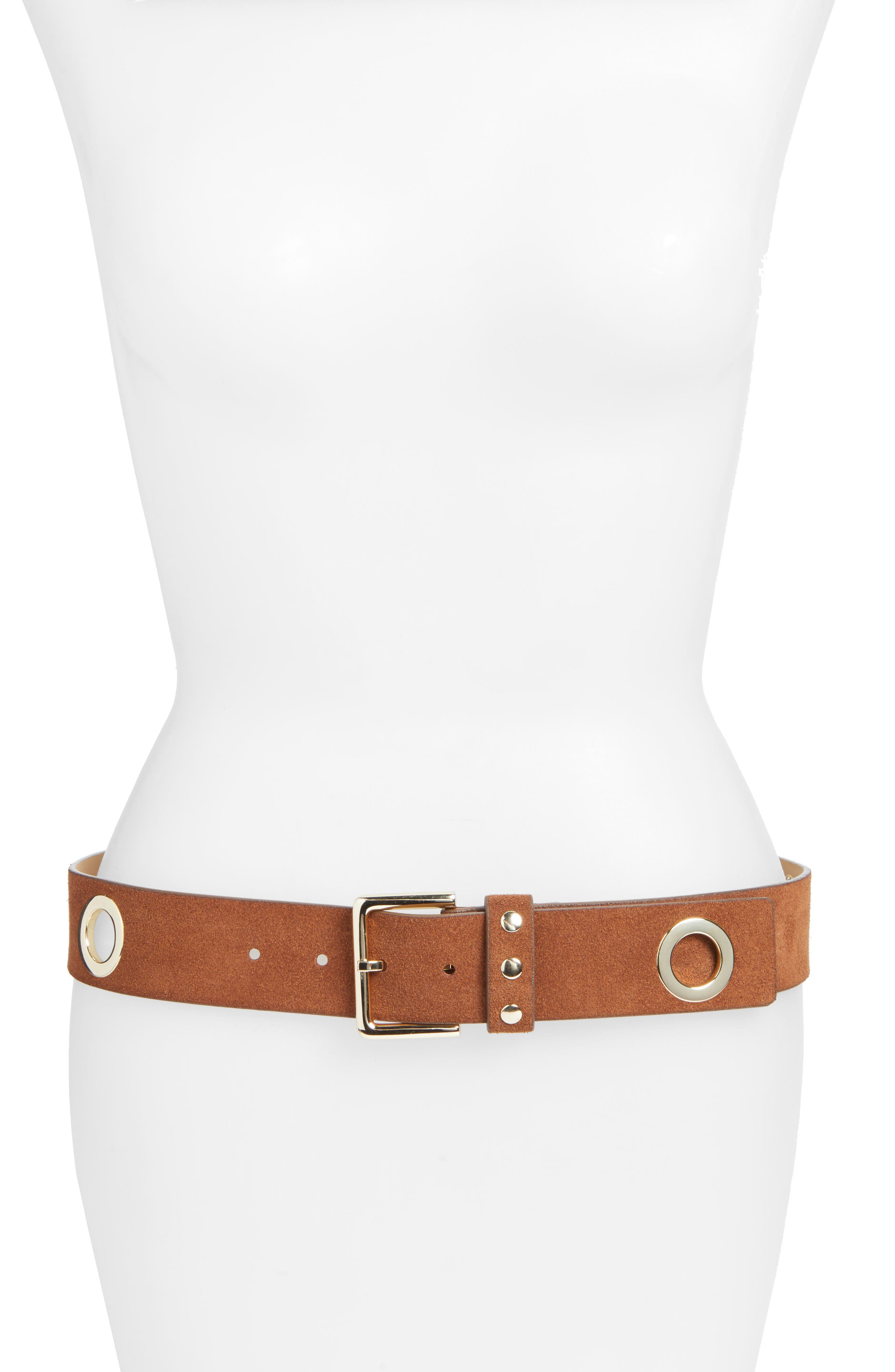 Rebecca Minkoff Elle Grommet Leather Belt