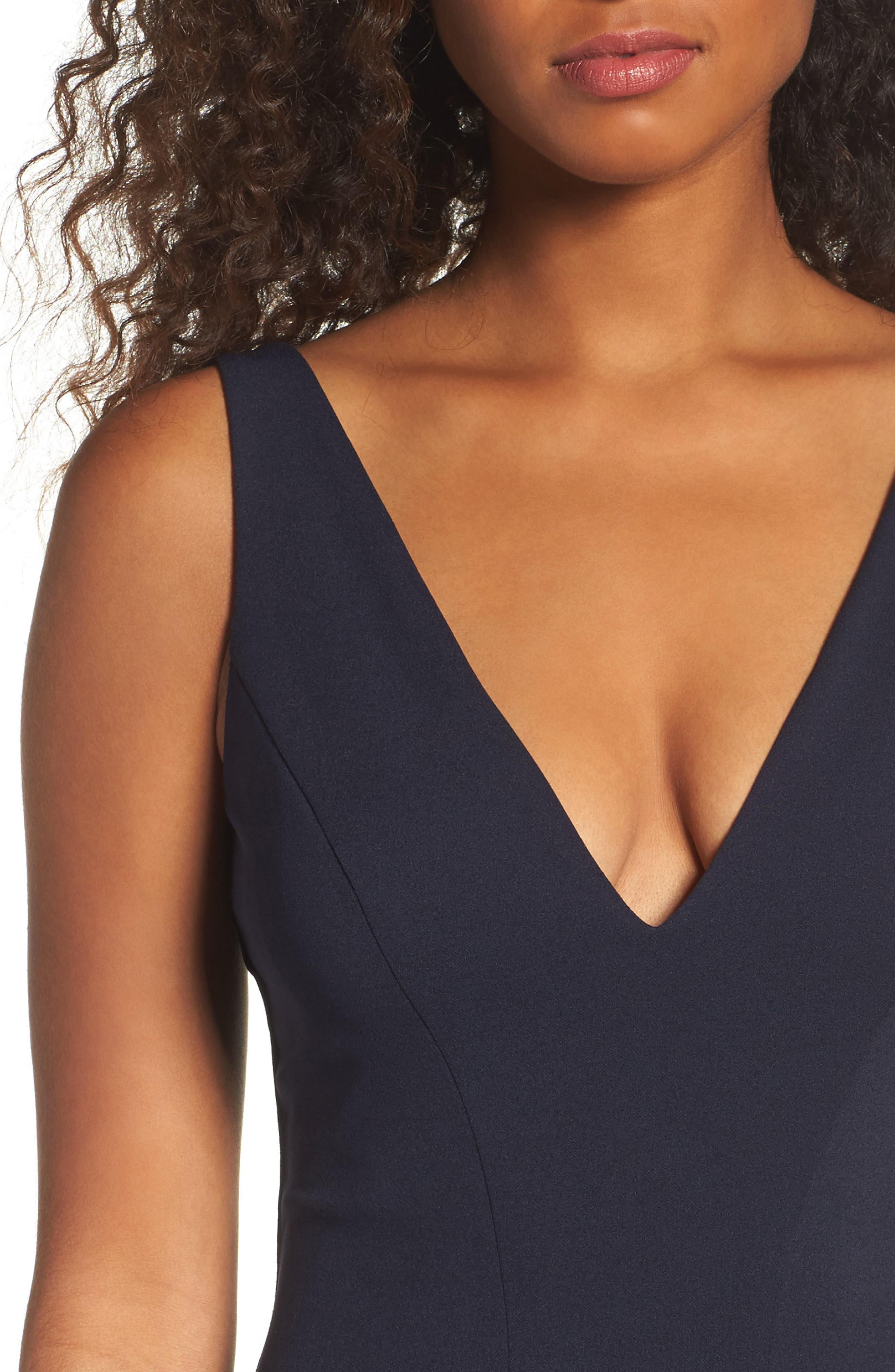 Alternate Image 4  - Katie May V-Neck Crepe Gown