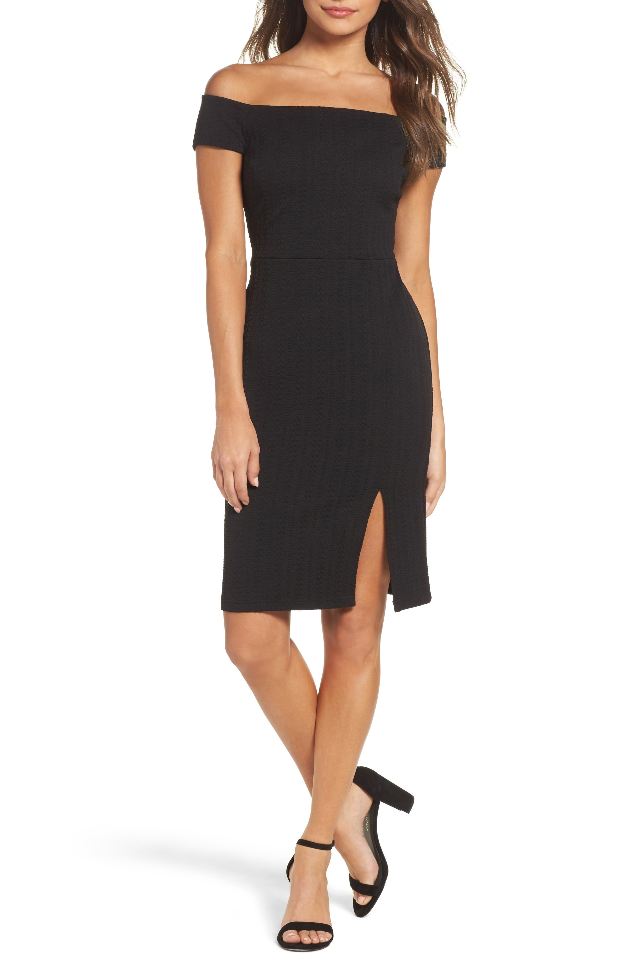 Won't Be Silenced Sheath Dress,                         Main,                         color, Black