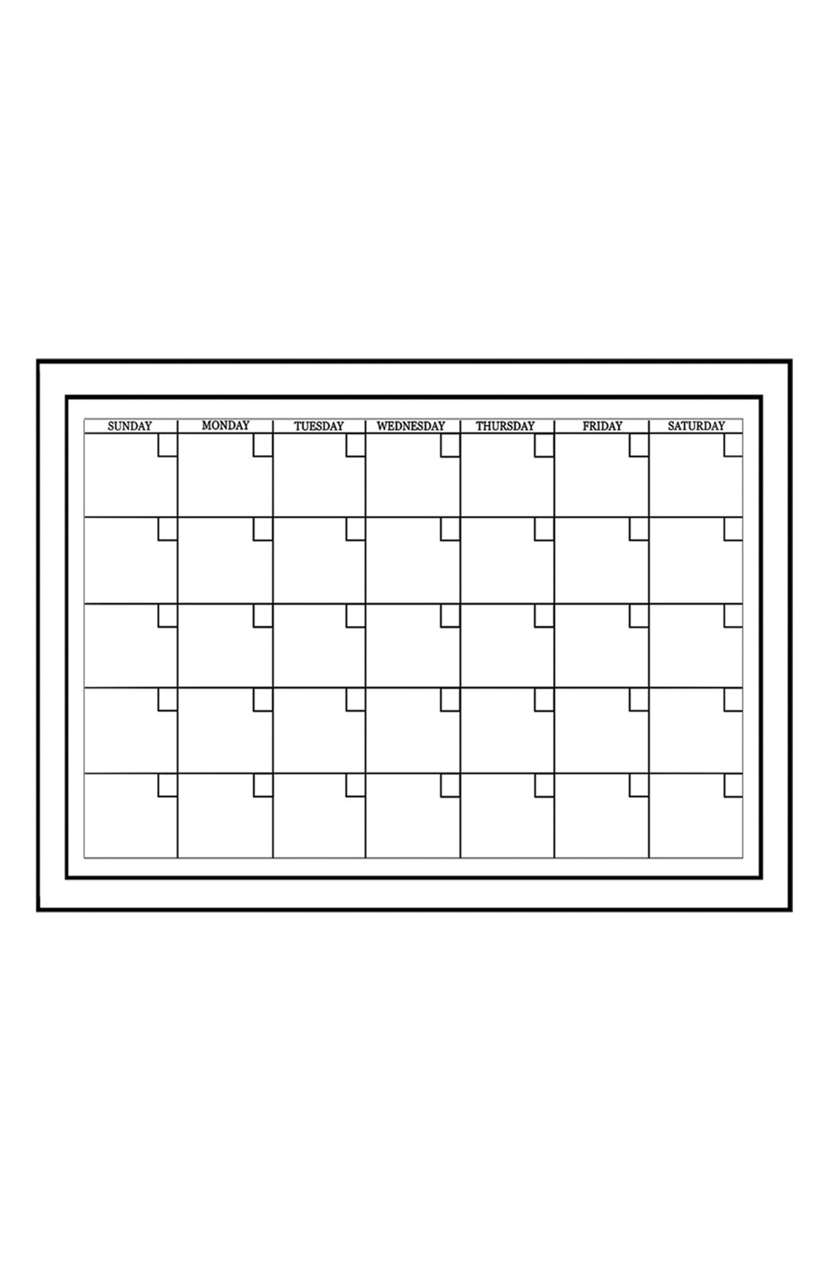 Set of 2 Monthly Dry Erase Calendar Decals,                         Main,                         color, White Off-White