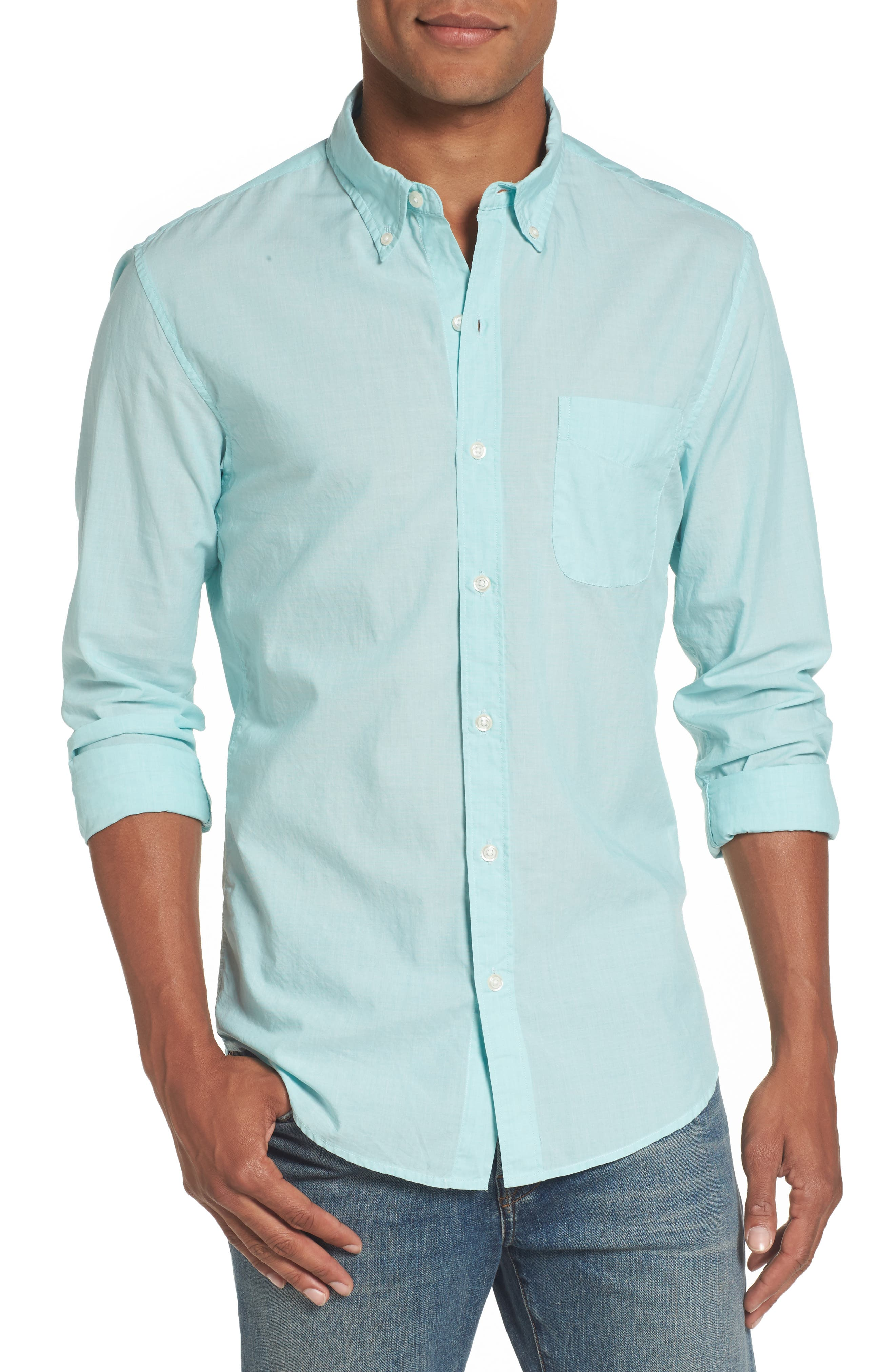Slim Fit Summerweight Sport Shirt,                         Main,                         color, Solid Hydrous