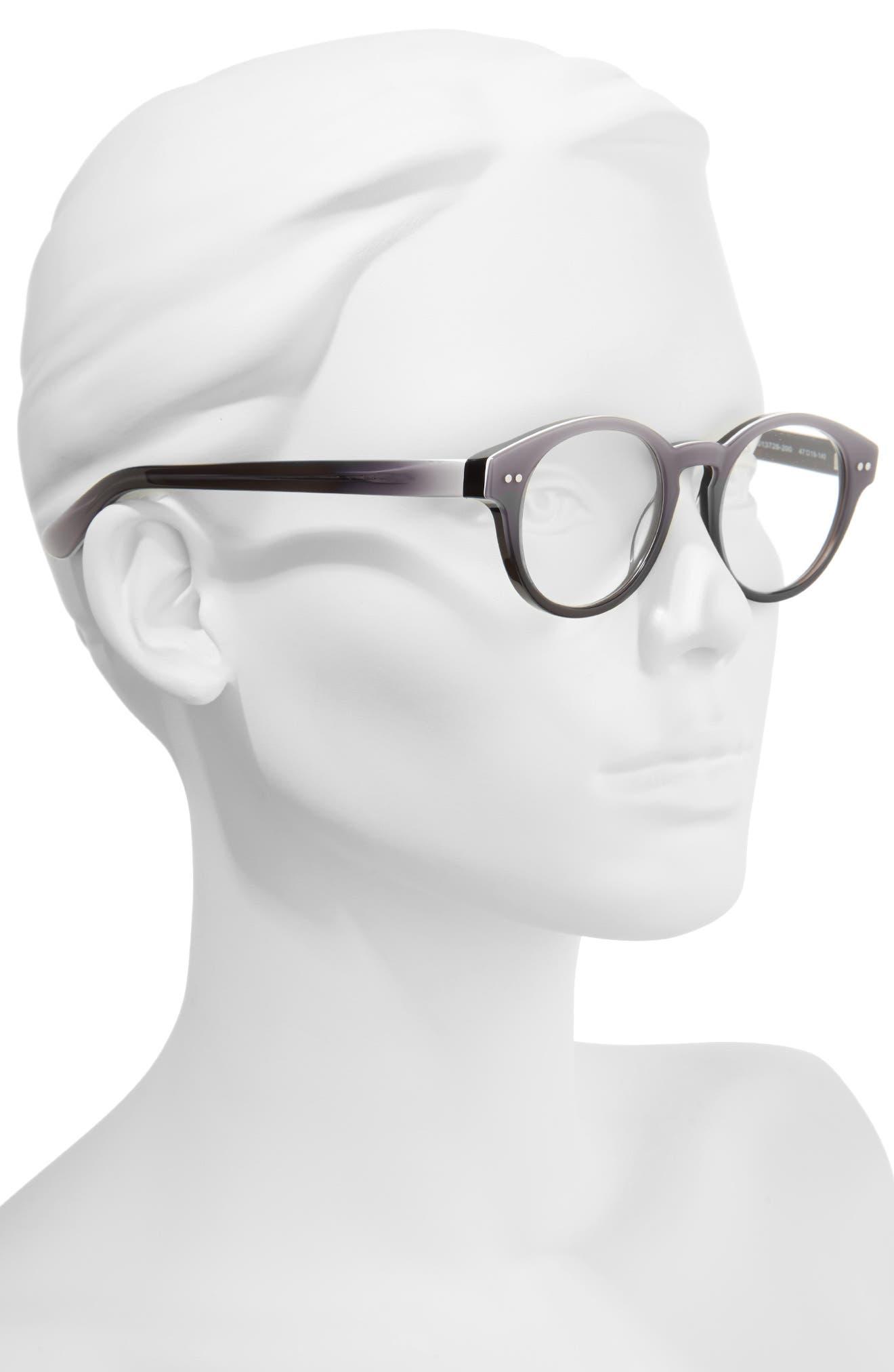 Harriet 47mm Reading Glasses,                             Alternate thumbnail 2, color,                             Grey