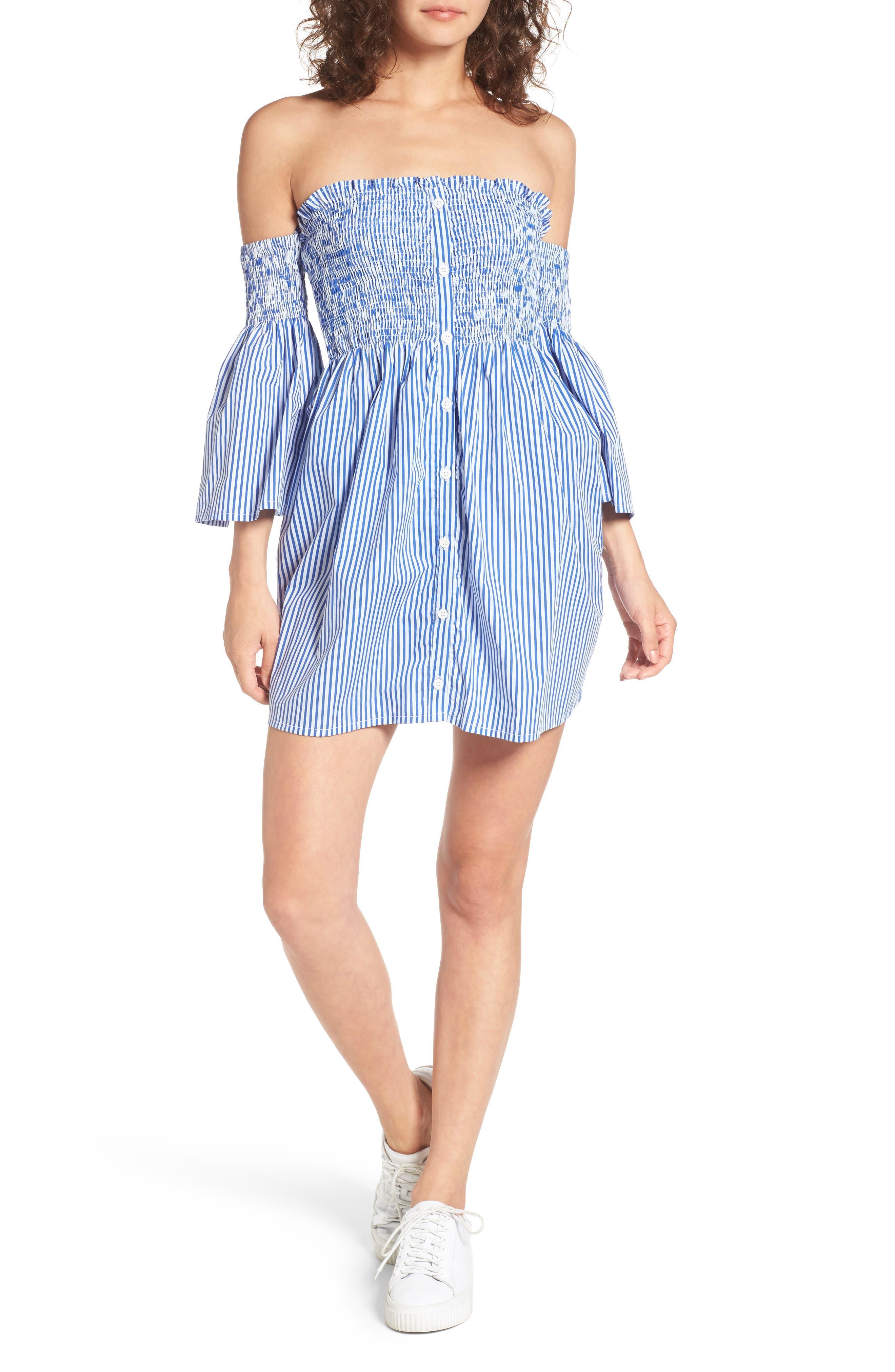FAITHFULL THE BRAND Hockney Off the Shoulder Dress