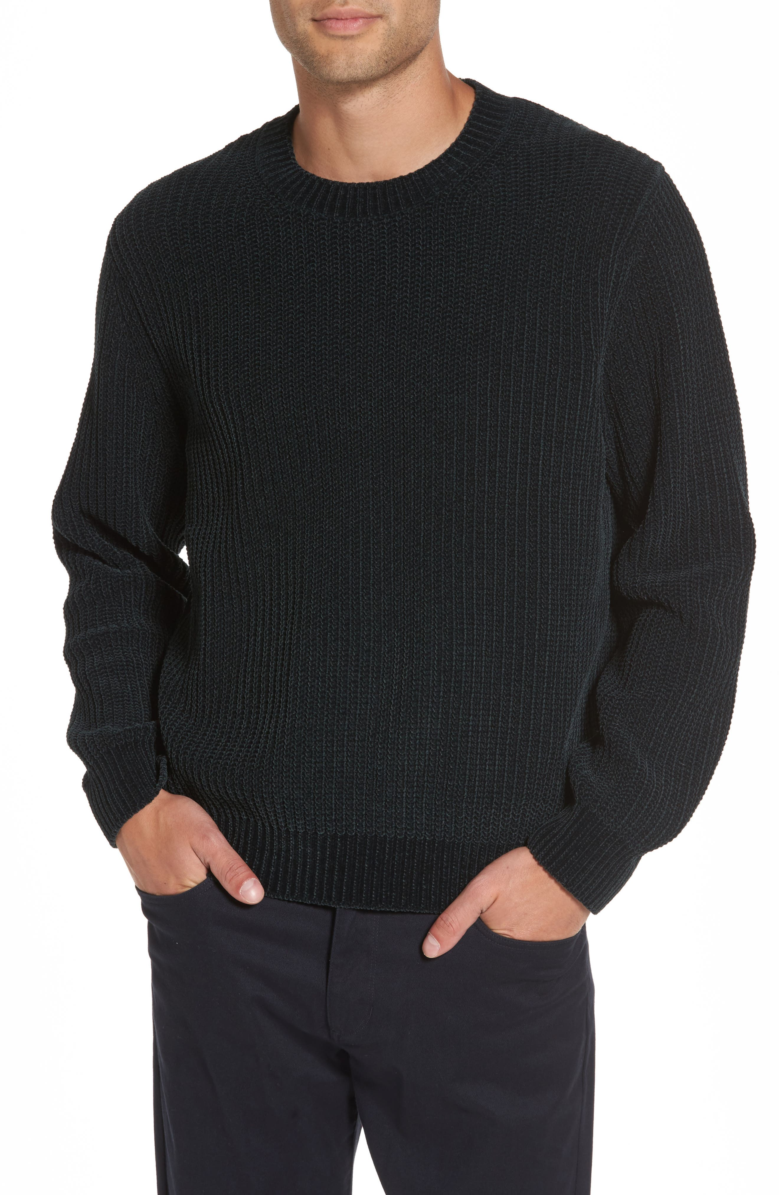 Vince Ribbed Crewneck Sweater