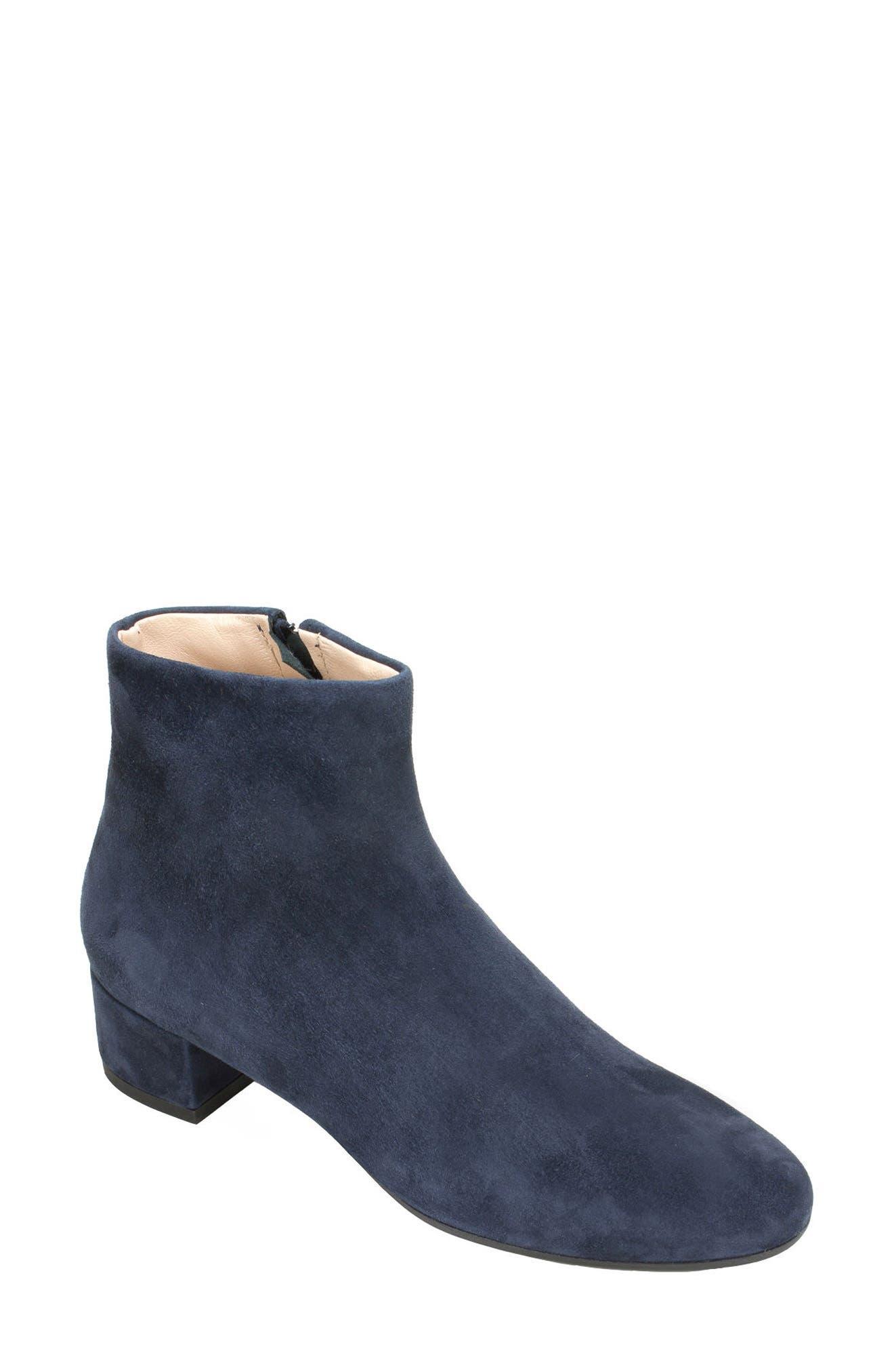 Jordie Block Heel Bootie,                         Main,                         color, Blue Suede