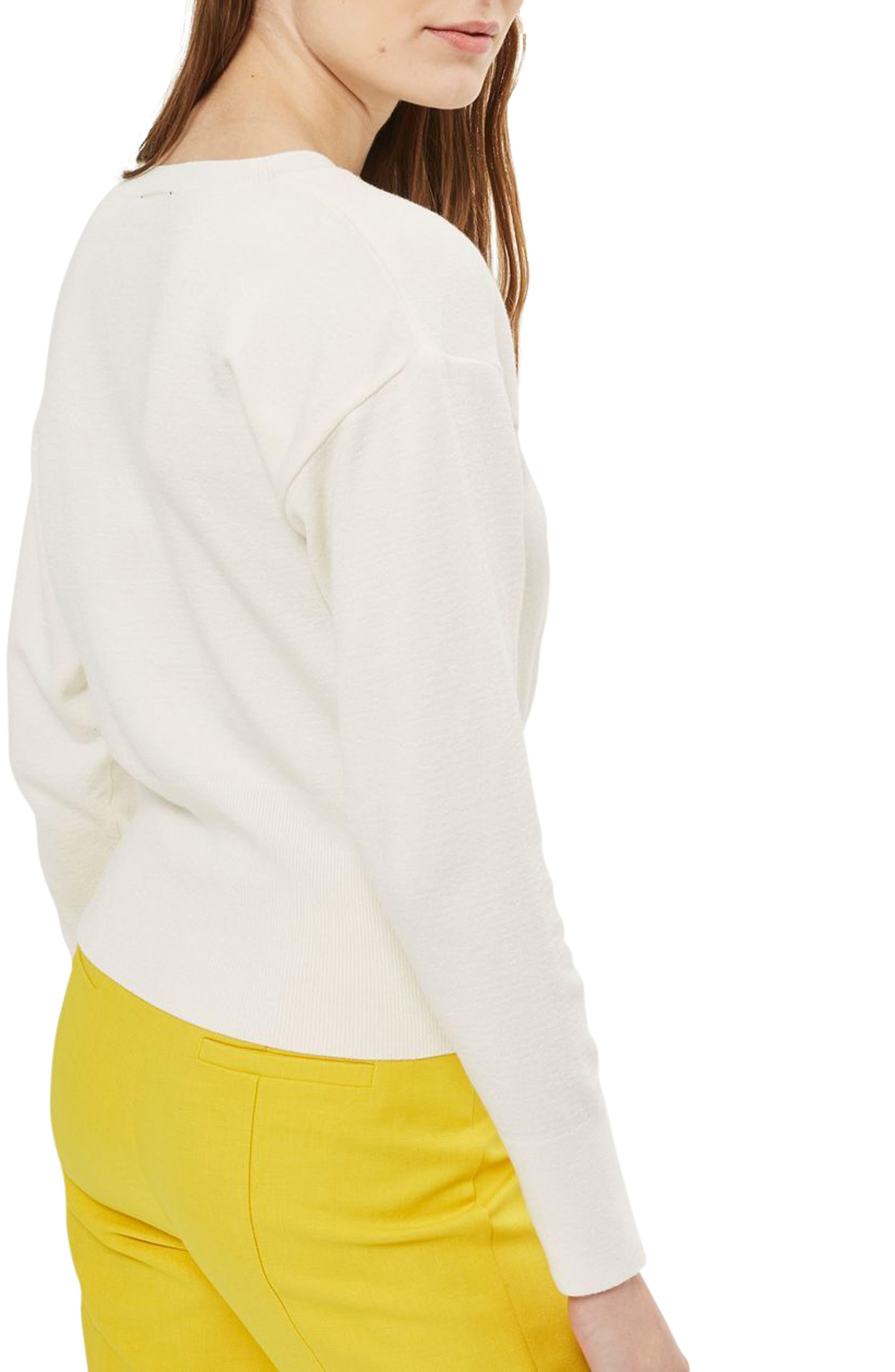 Alternate Image 2  - Topshop Corset Front Sweater (Petite)