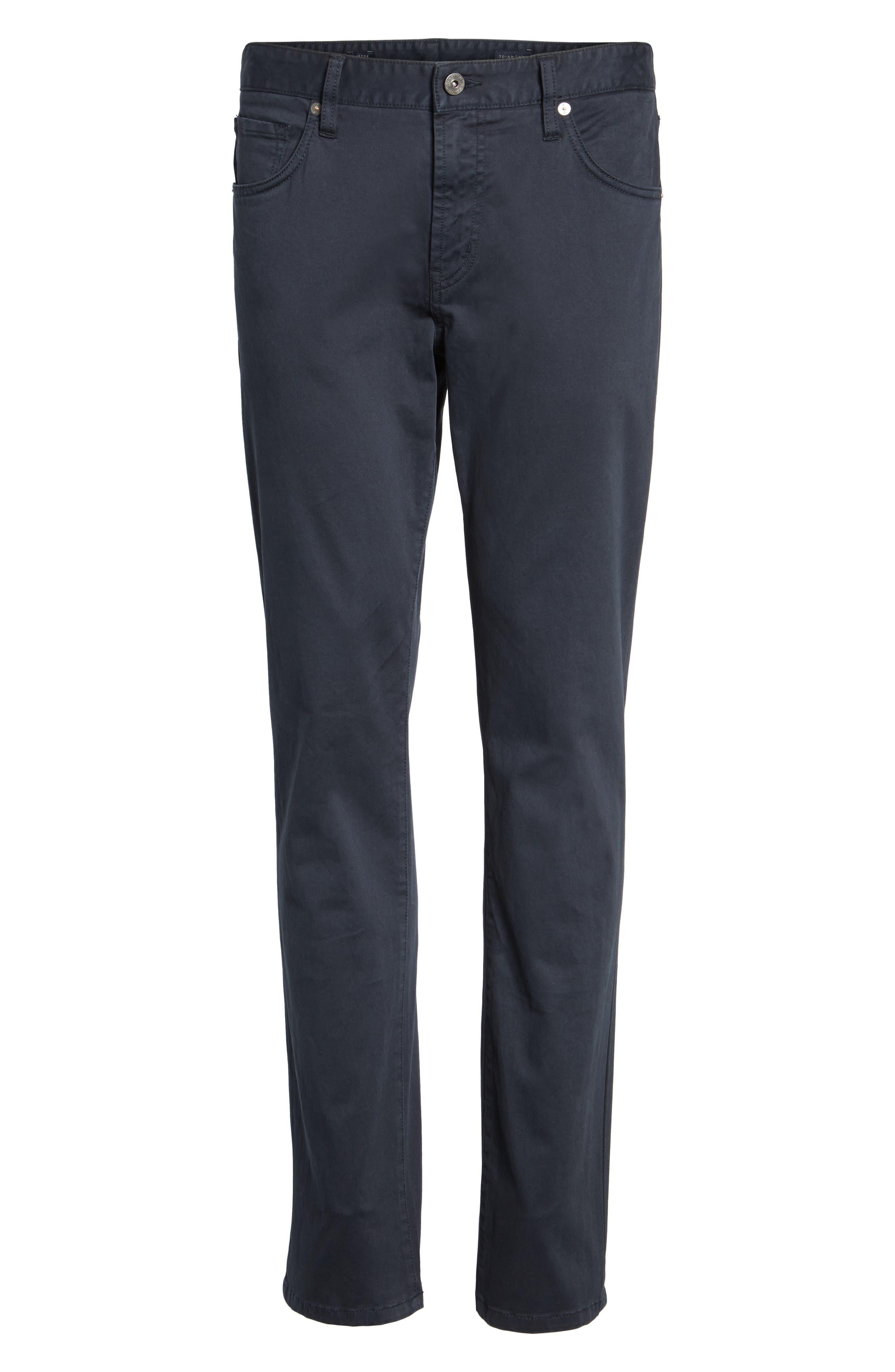 Brushed Twill Five-Pocket Pants,                             Alternate thumbnail 6, color,                             Navy