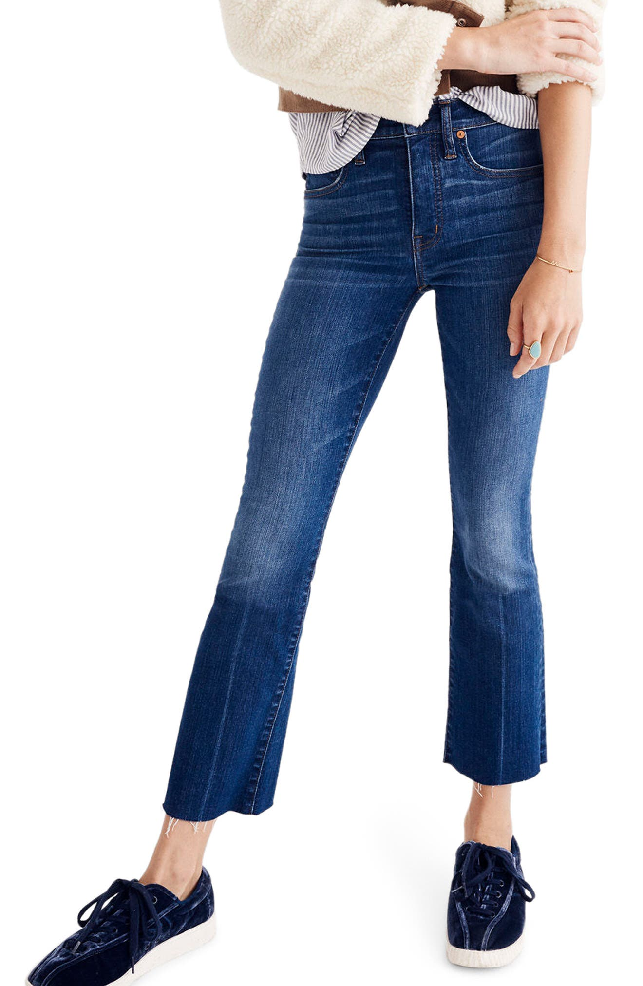 Madewell Cali Demi Boot Jeans (Wyoming Wash)