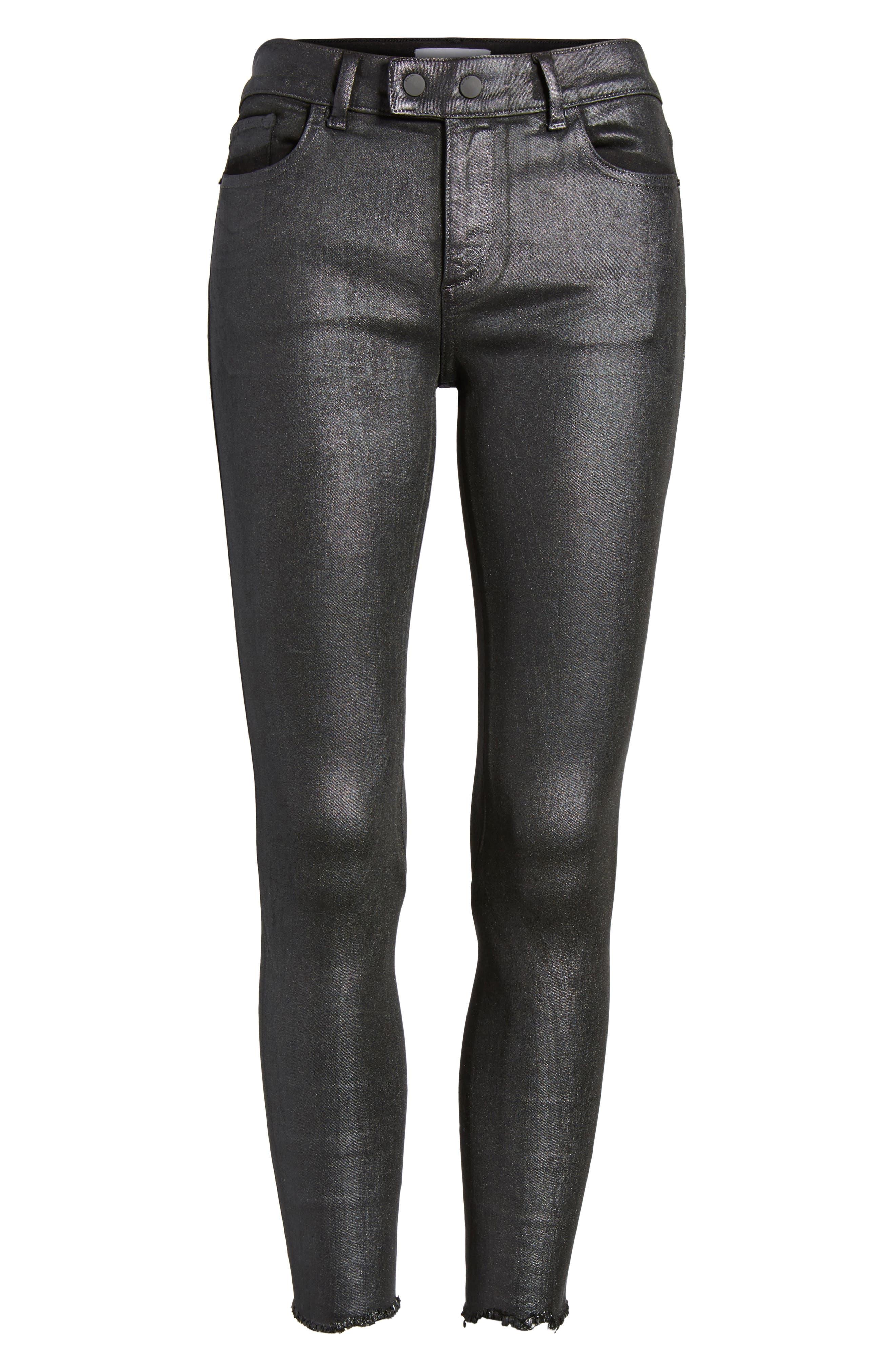 Alternate Image 6  - DL1961 Florence Instasculpt Crop Skinny Jeans (Bradshaw)