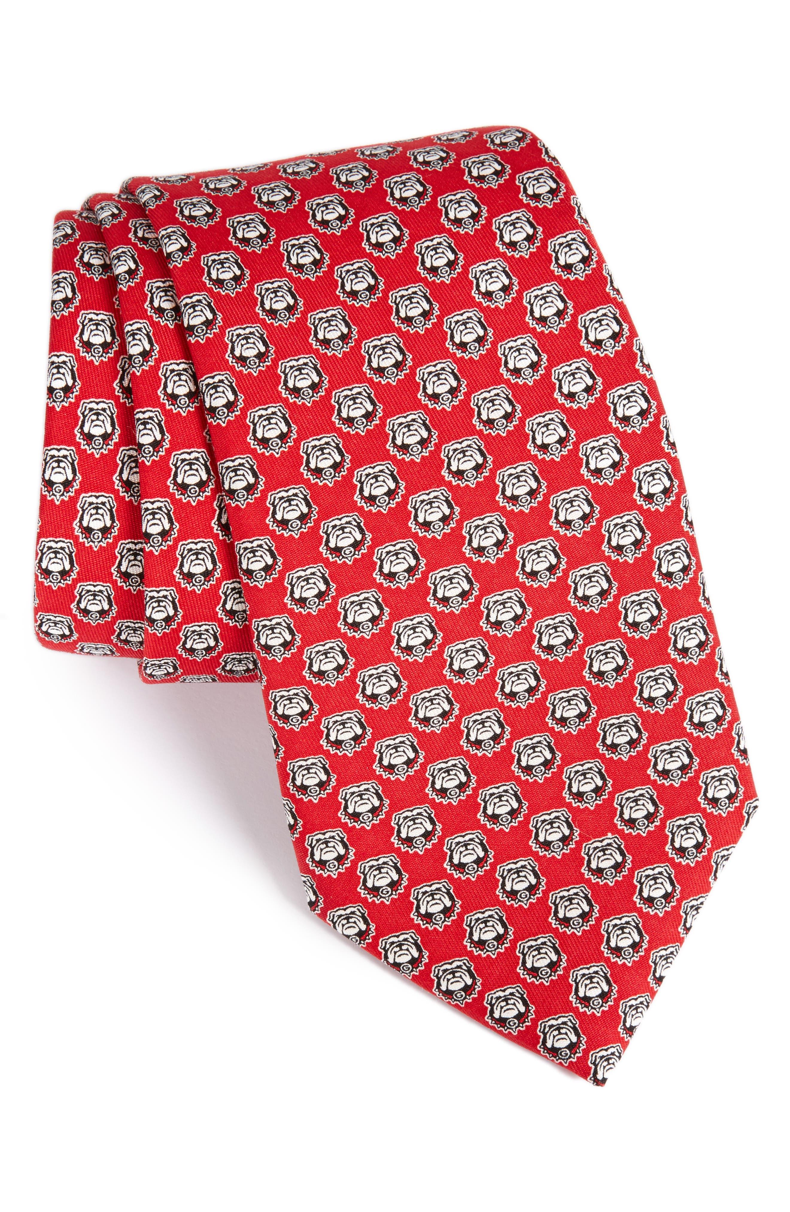 University of Georgia Silk Tie,                         Main,                         color, Red