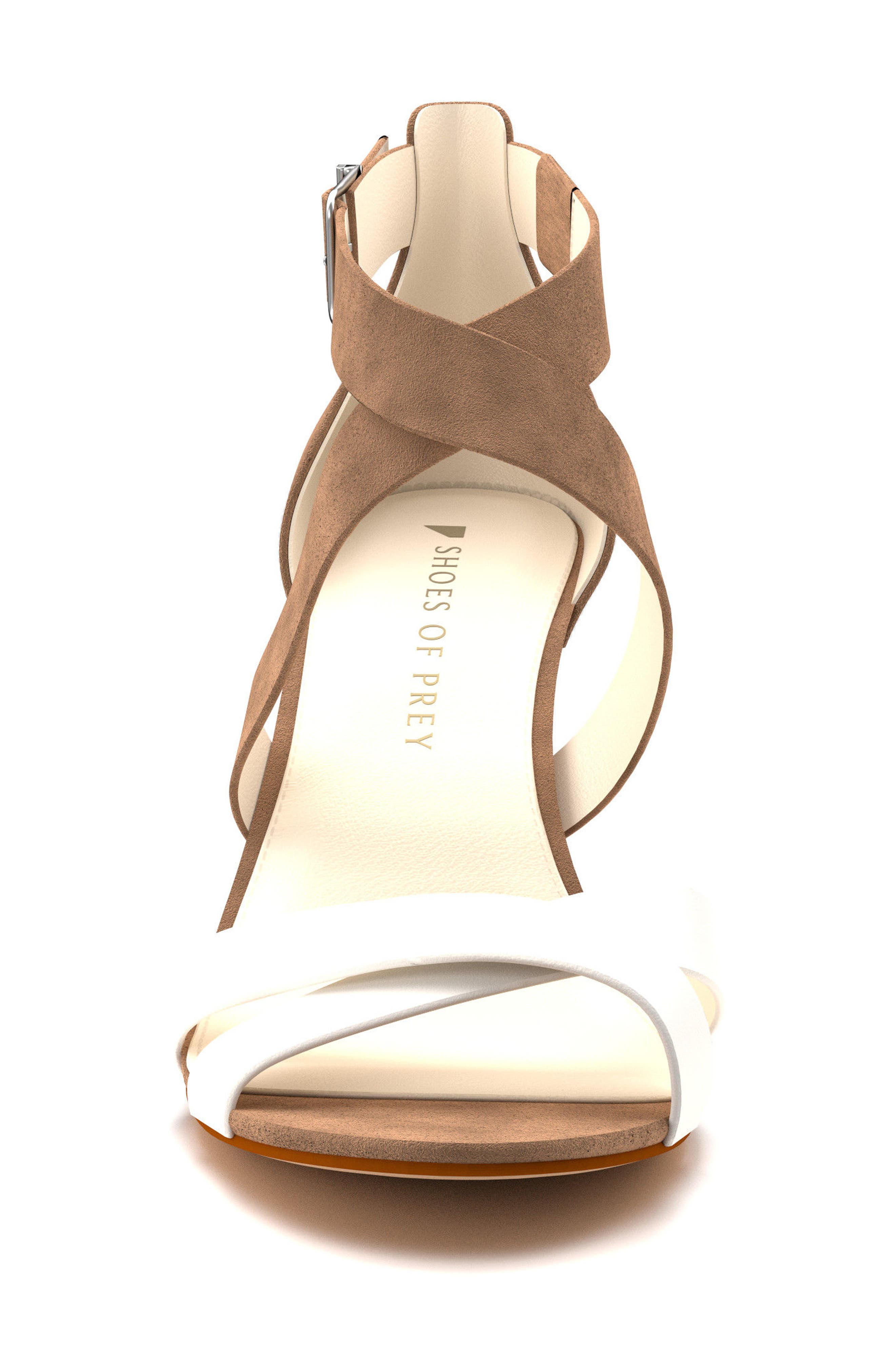 Crisscross Strappy Sandal,                             Alternate thumbnail 3, color,                             Tan Suede