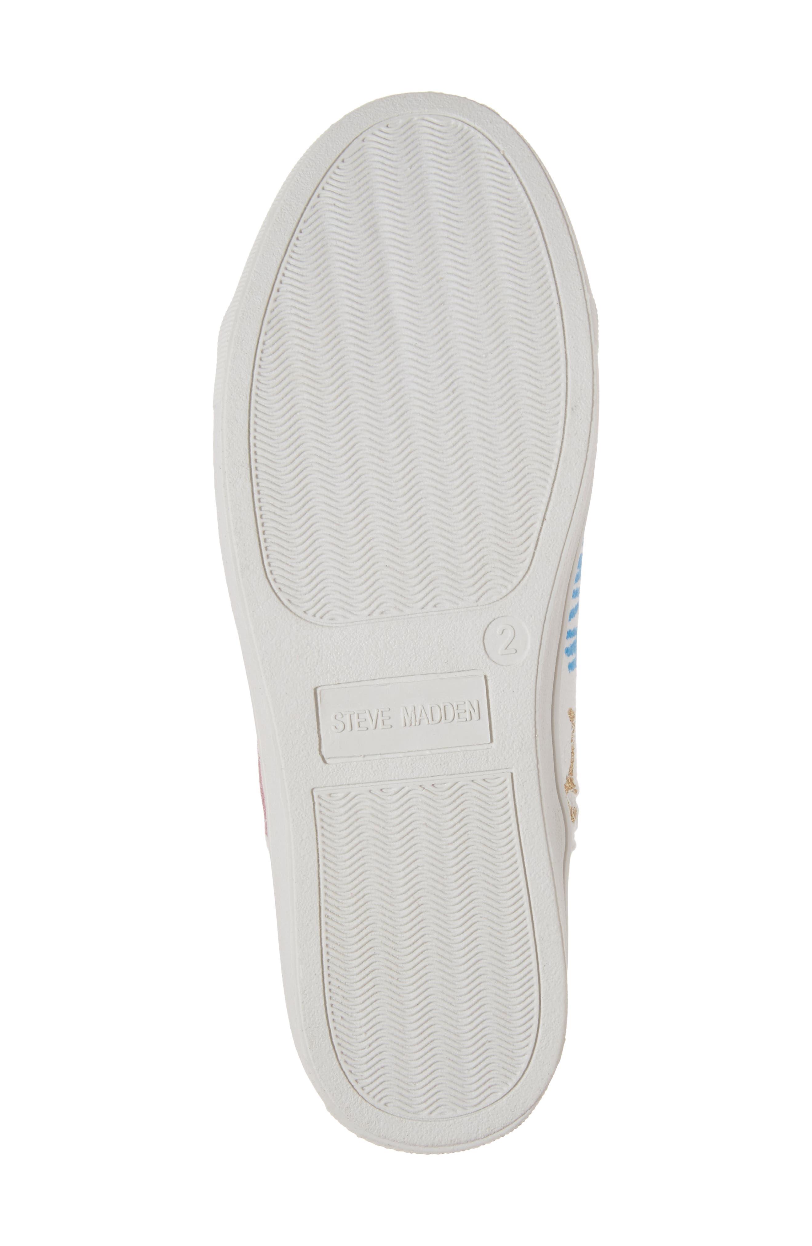 JScribble High Top Sneaker,                             Alternate thumbnail 6, color,                             White