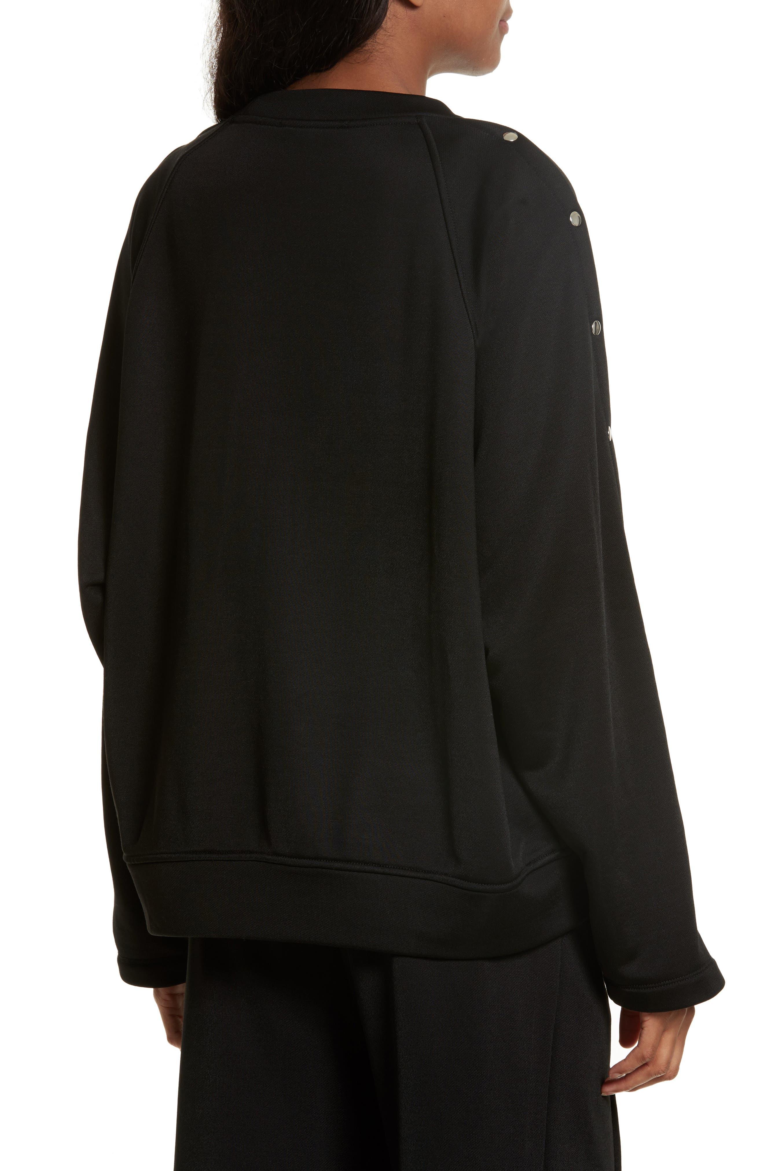 French Terry Sweatshirt,                             Alternate thumbnail 4, color,                             Black