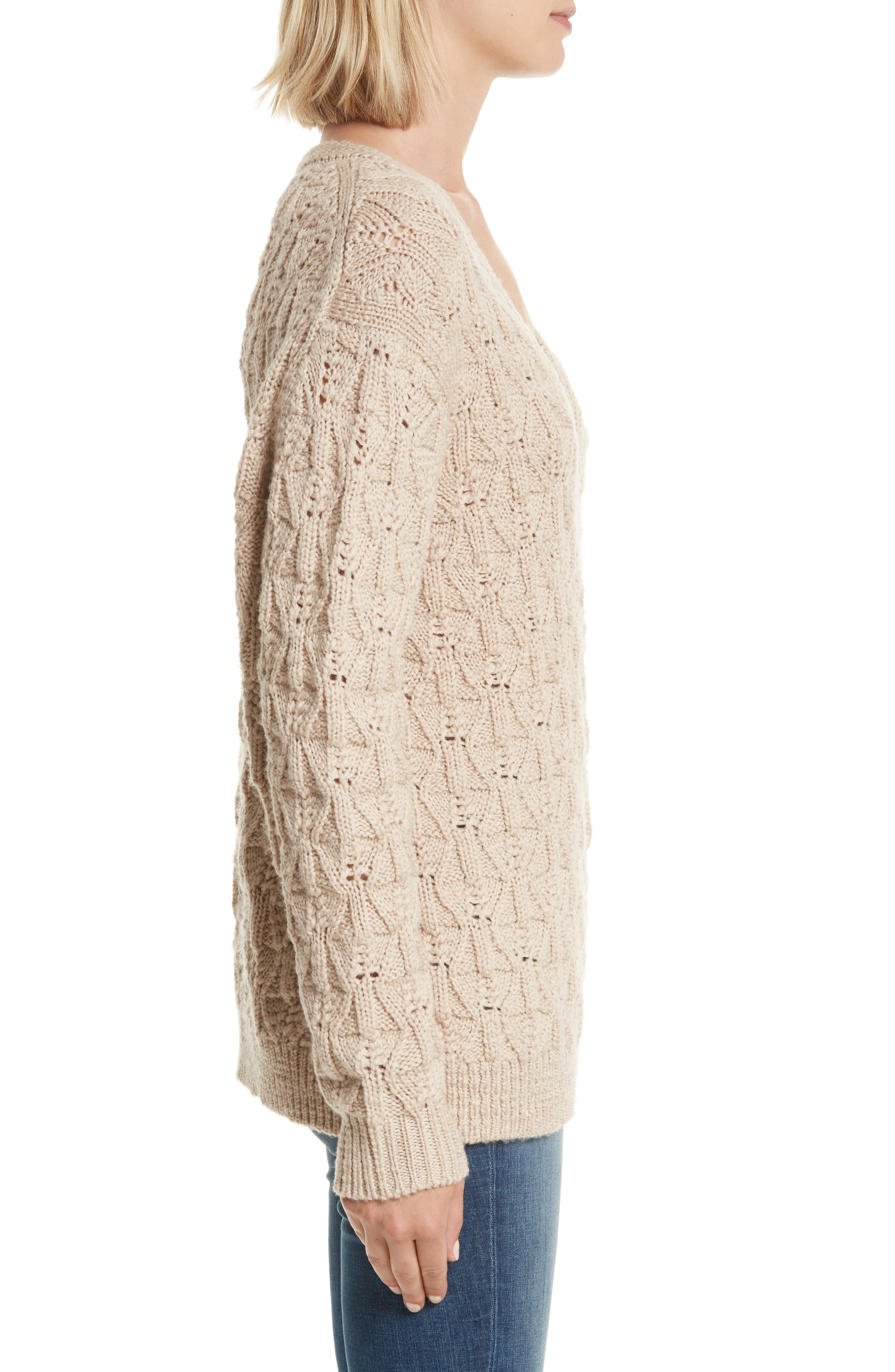 Alternate Image 3  - Rebecca Taylor V-Neck Merino Wool Pullover