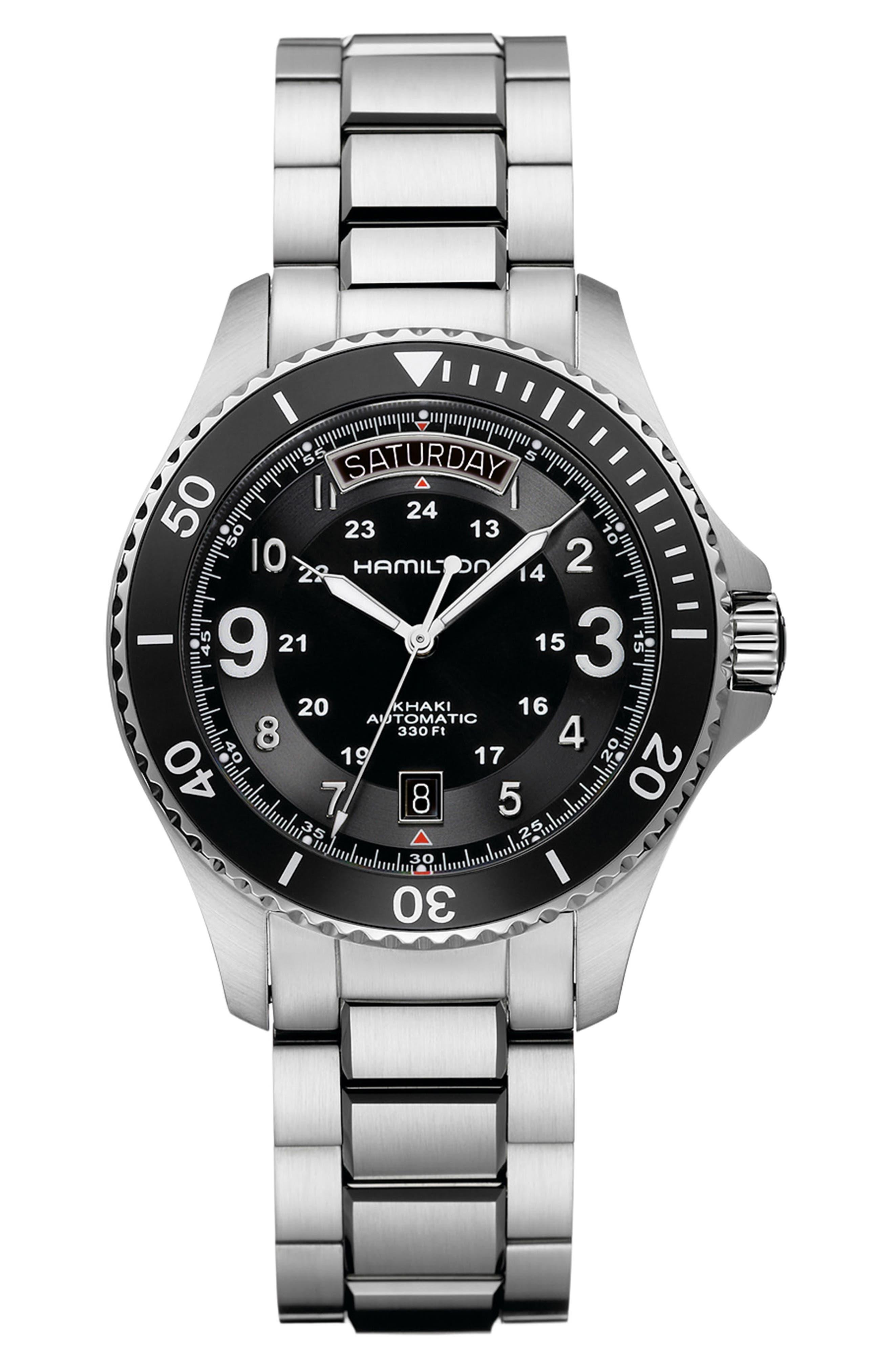 HAMILTON Khaki Navy Scuba Automatic Bracelet Watch, 41mm