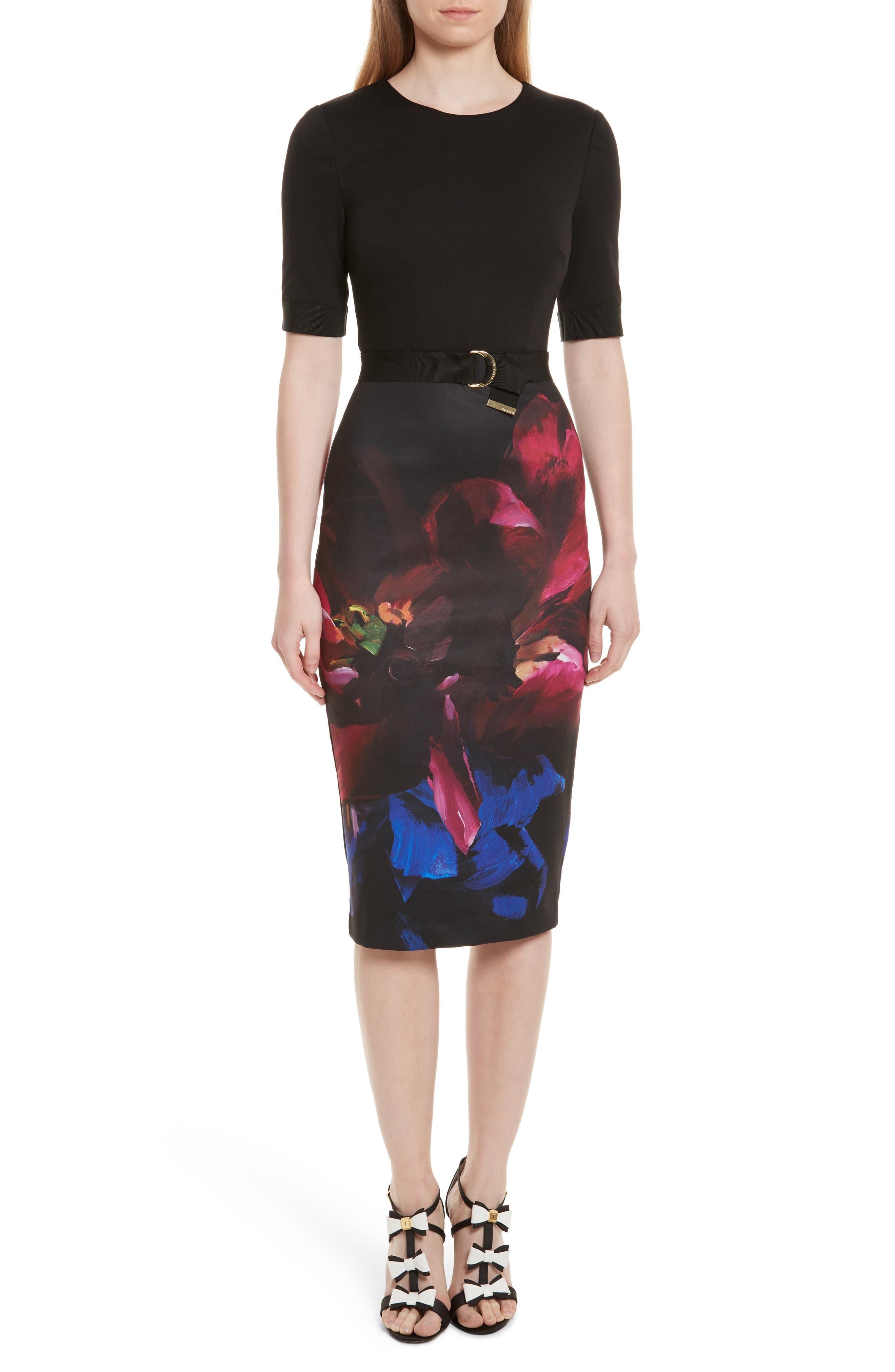 Ted Baker London Alaxane Impressionist Body-Con Dress