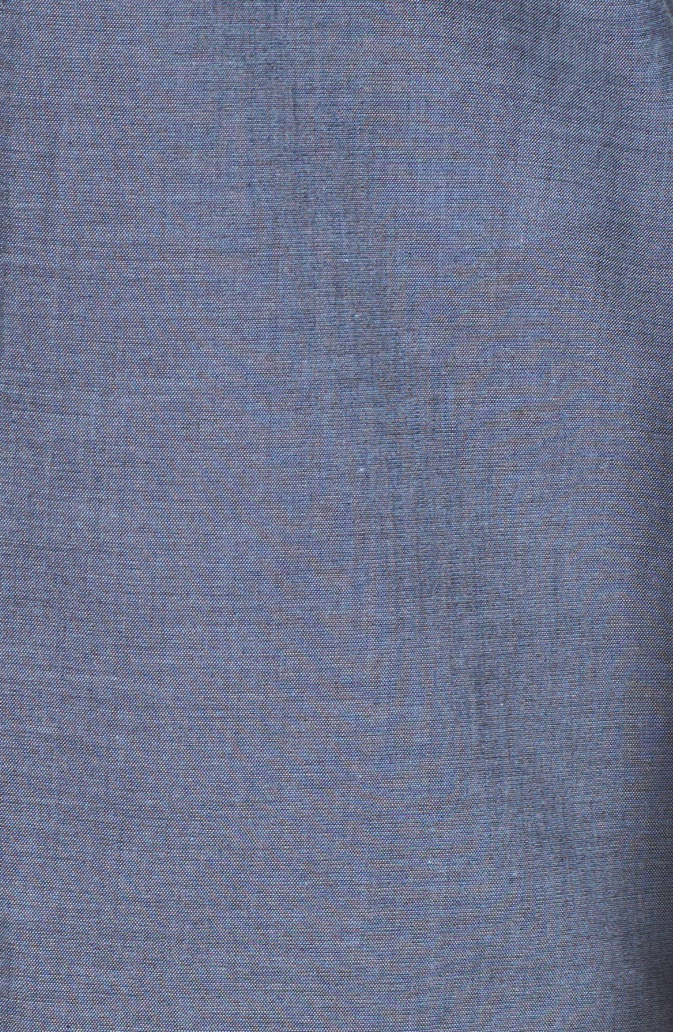 Fitted Sport Shirt,                             Alternate thumbnail 5, color,                             Medium Blue