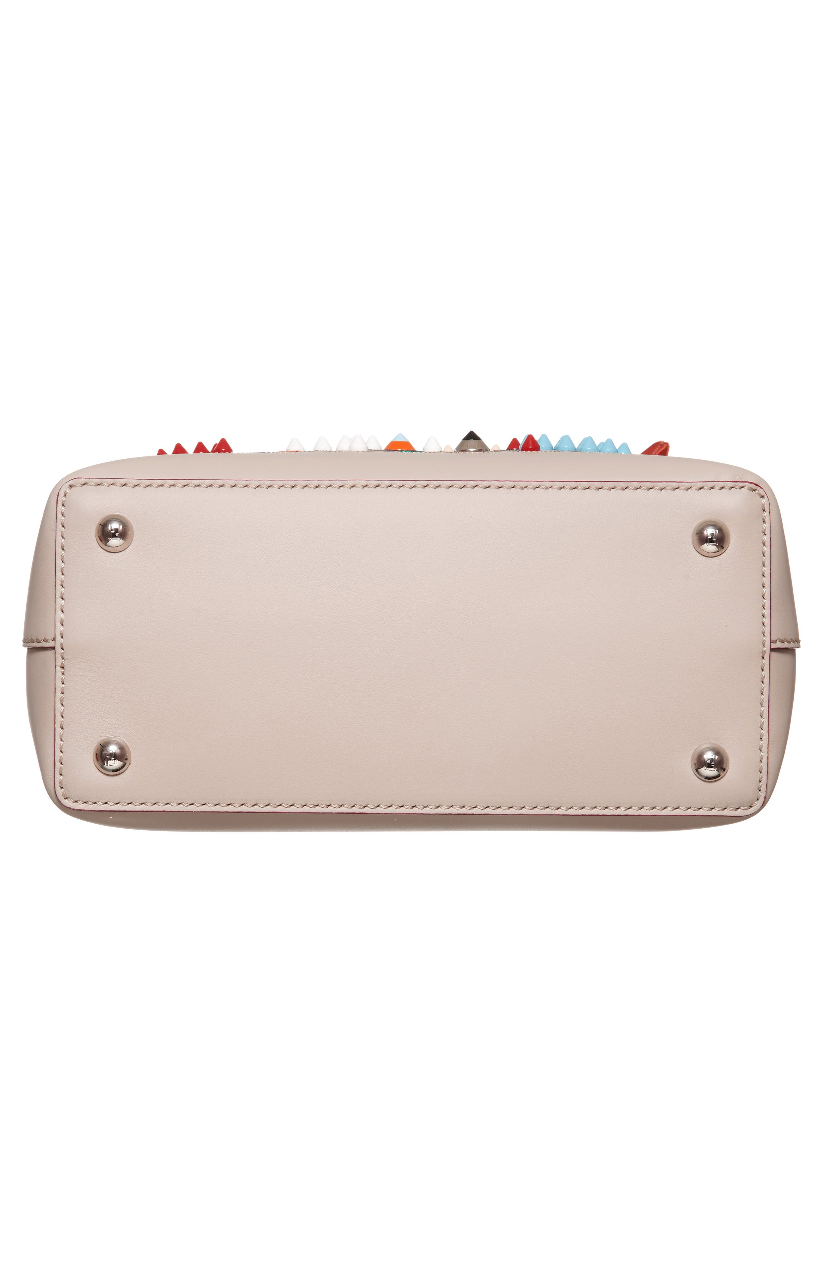 Small Dotcom Leather Shoulder Bag,                             Alternate thumbnail 6, color,                             Black Palladium