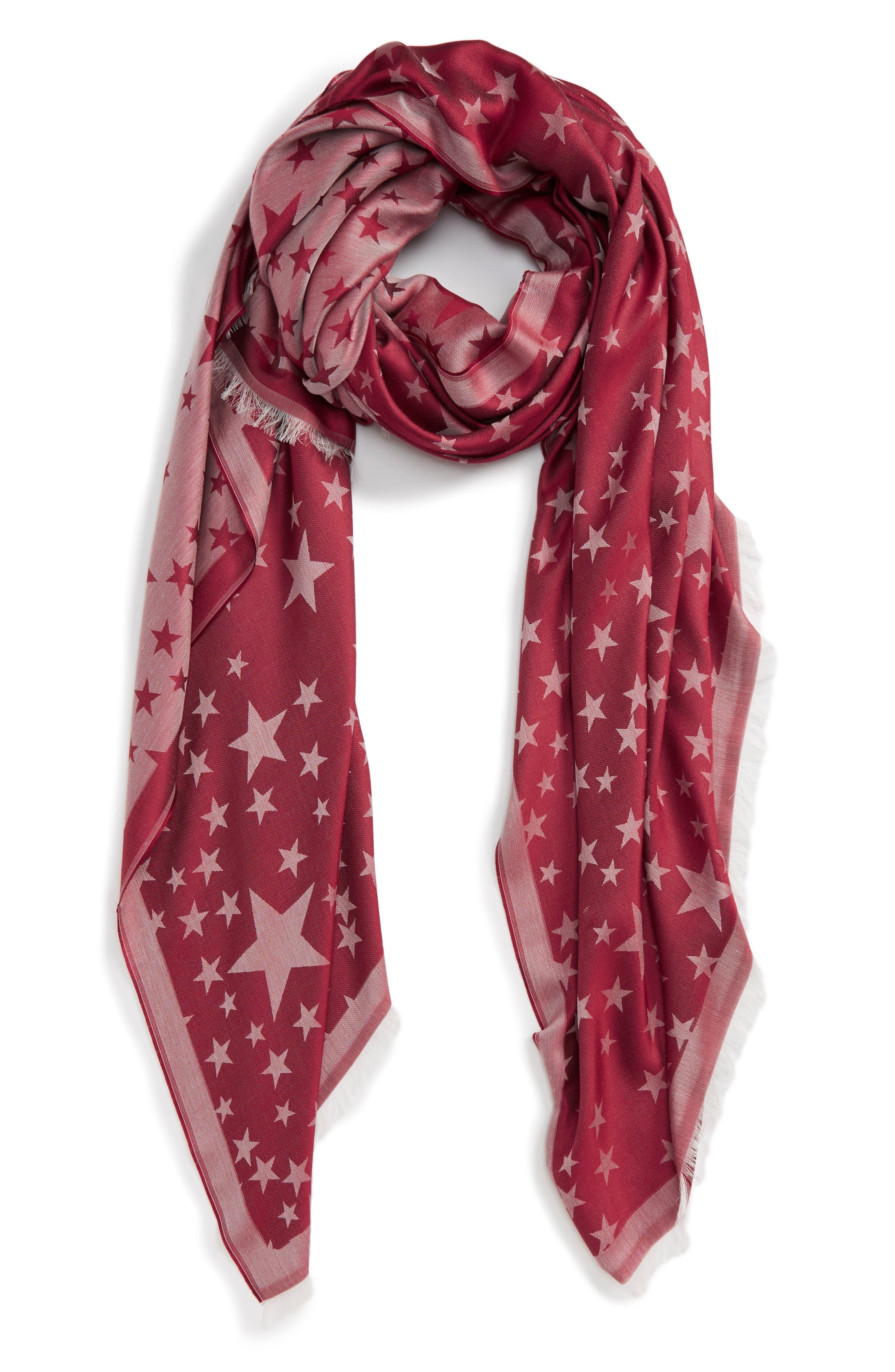 Stella McCartney Star Jacquard Silk & Modal Scarf