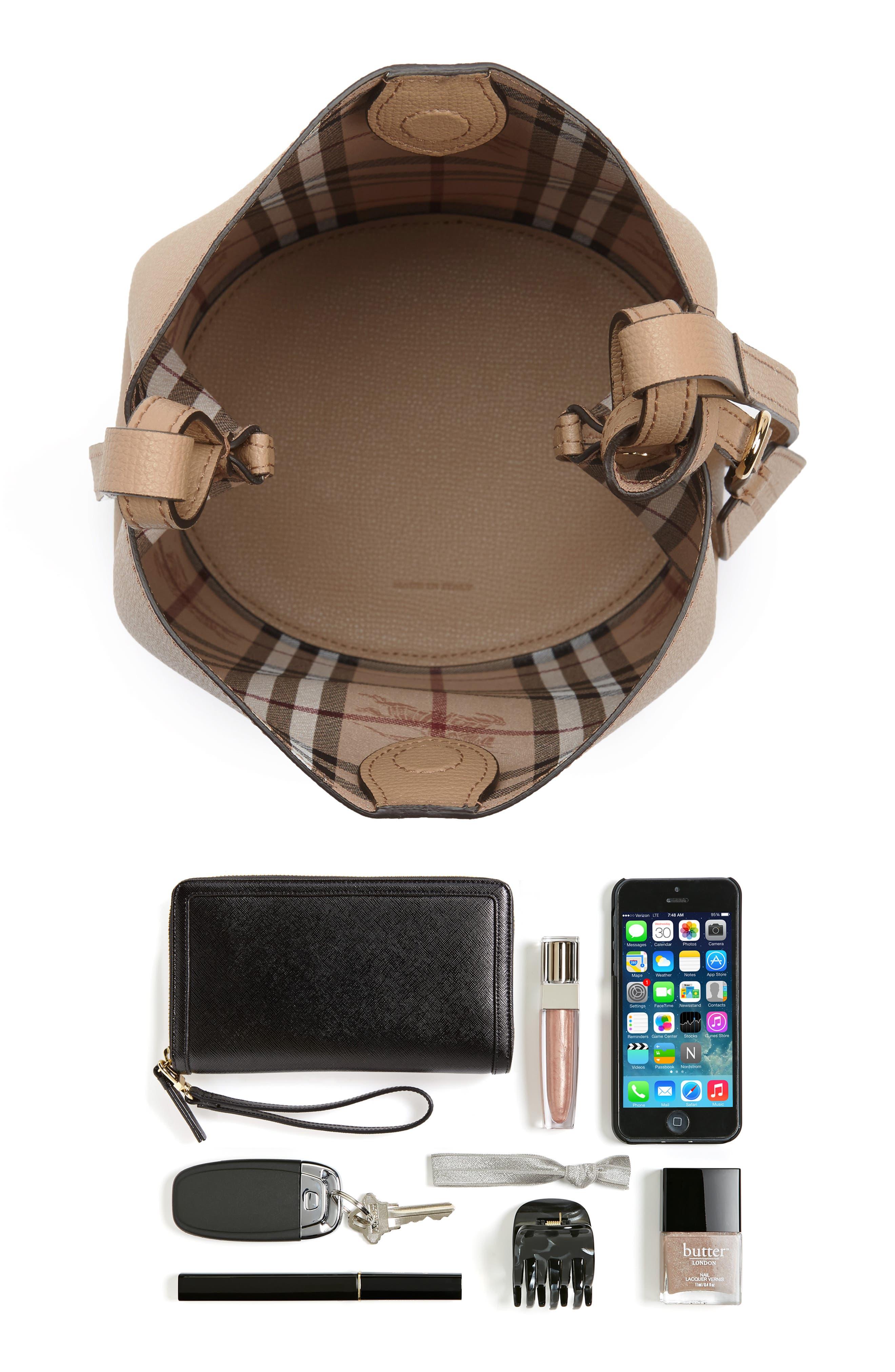 Alternate Image 7  - Burberry Small Lorne Leather Bucket Bag