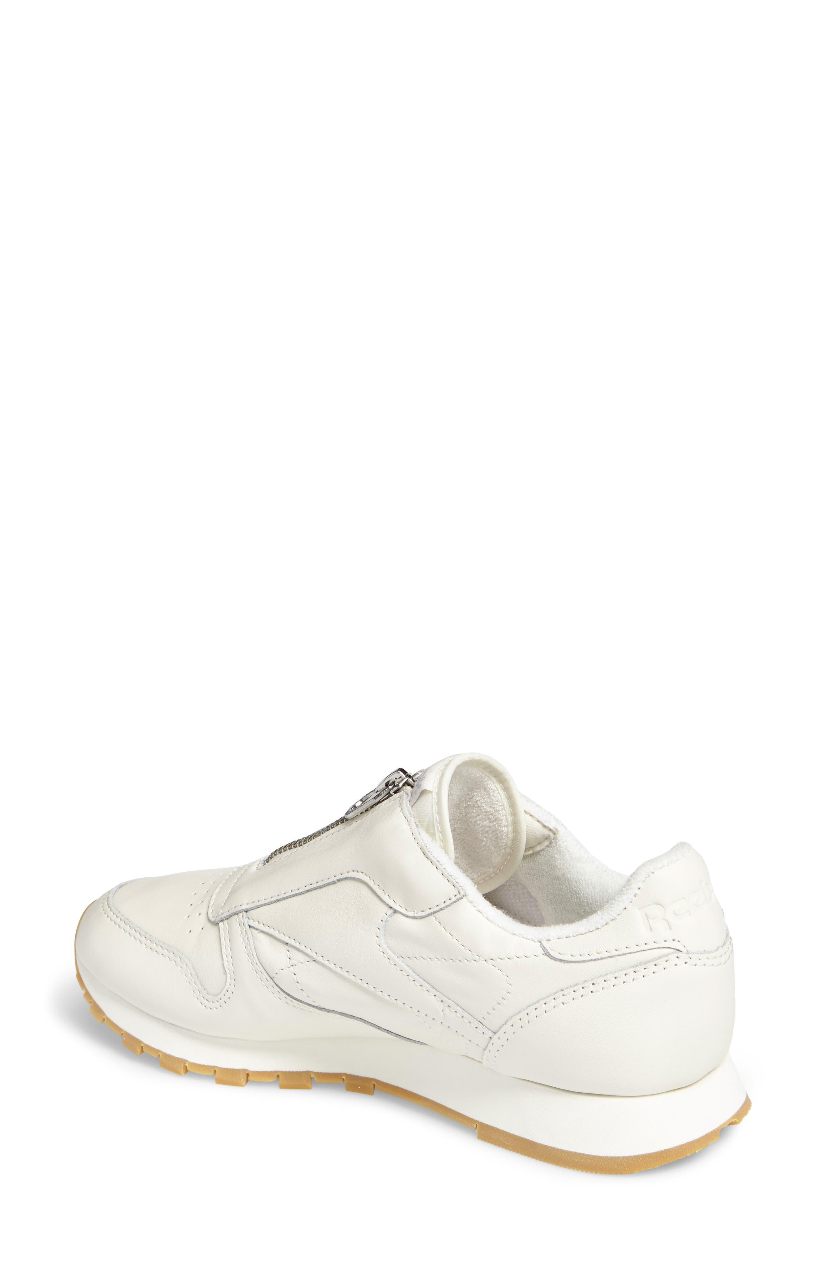 Alternate Image 2  - Reebok Classic Leather Zip Sneaker (Women)