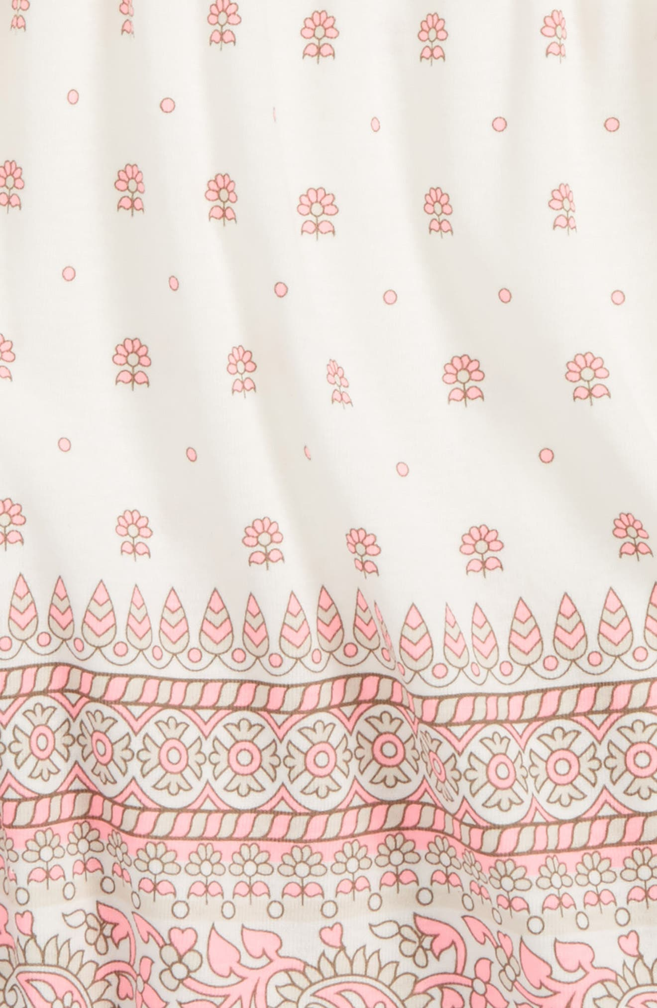 Alternate Image 2  - Peek Border Print Dress (Baby)