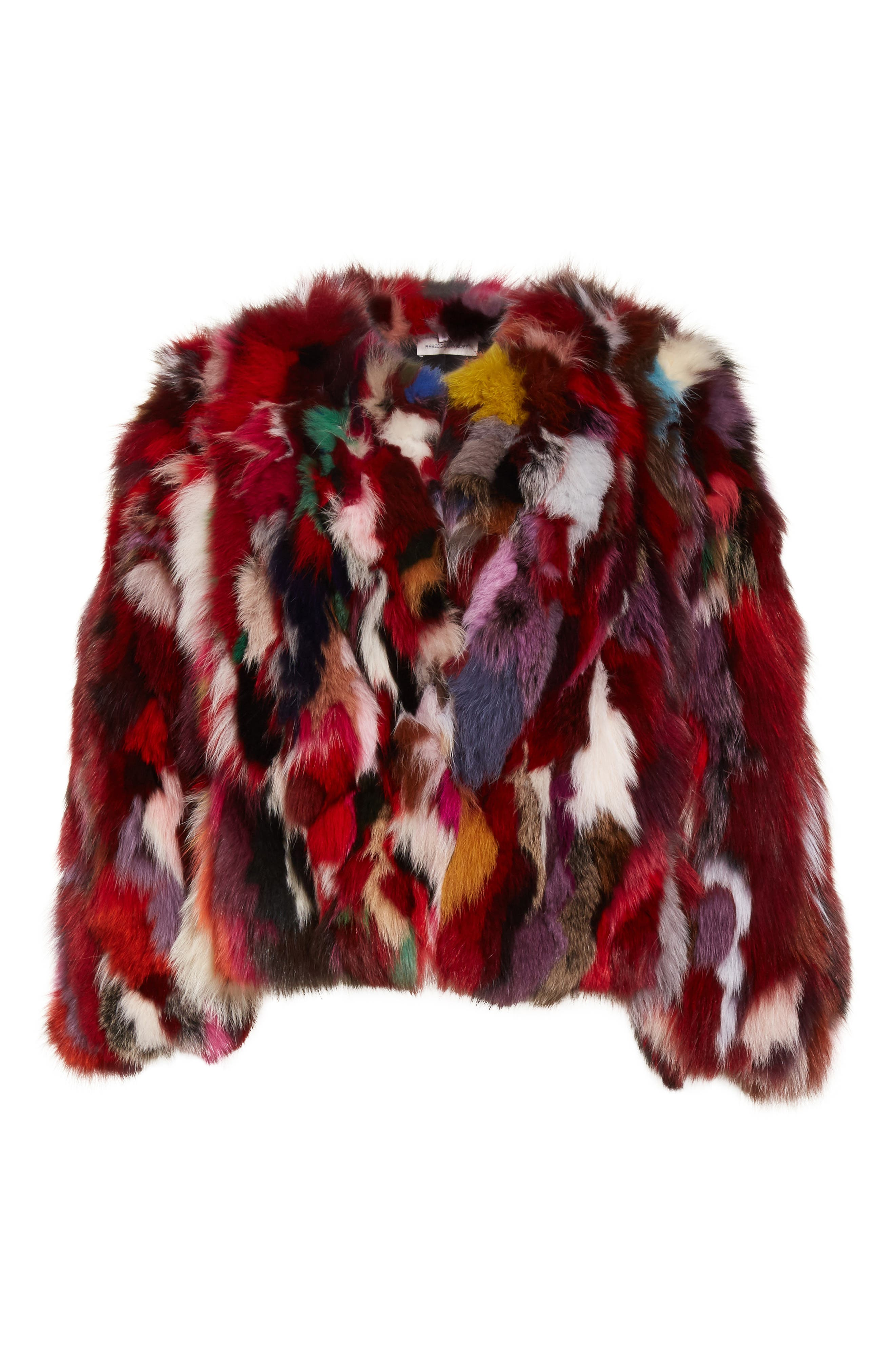 Rachel Genuine Fox Fur Jacket,                             Alternate thumbnail 6, color,                             Multi