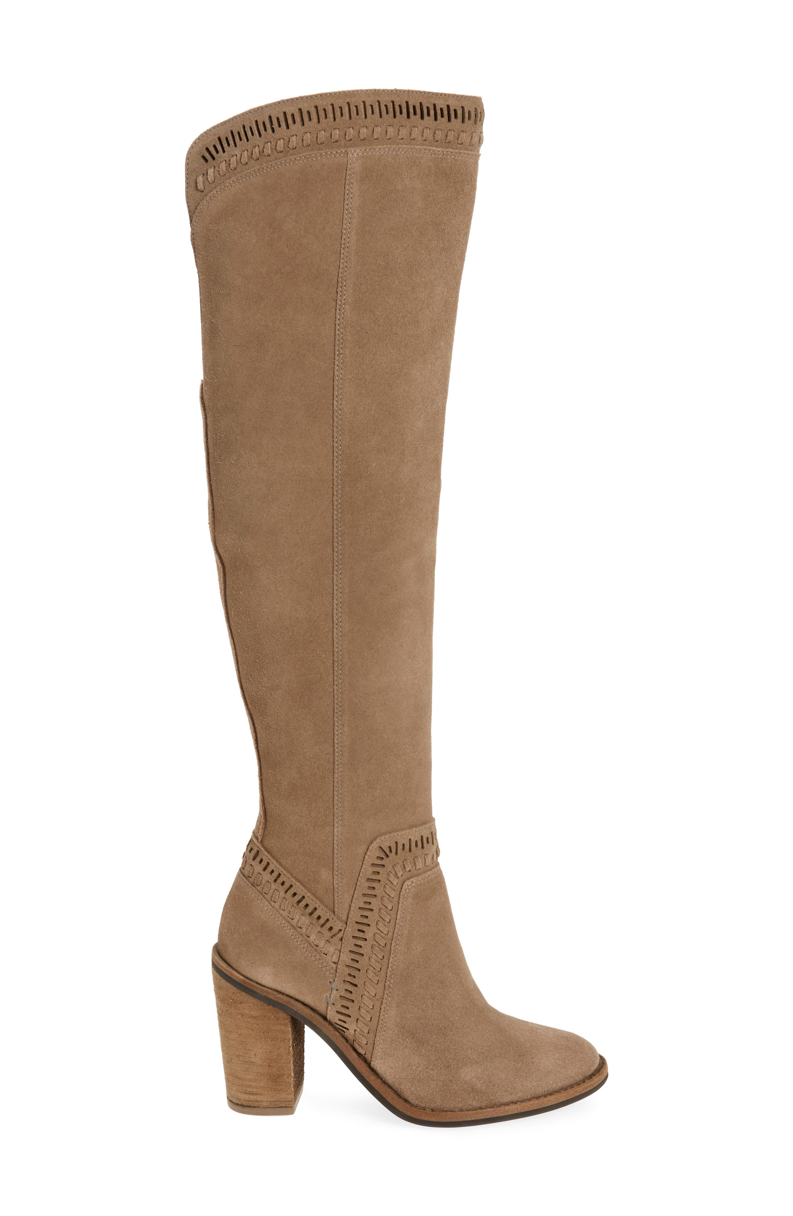 Madolee Over the Knee Boot,                             Alternate thumbnail 3, color,                             Foxy