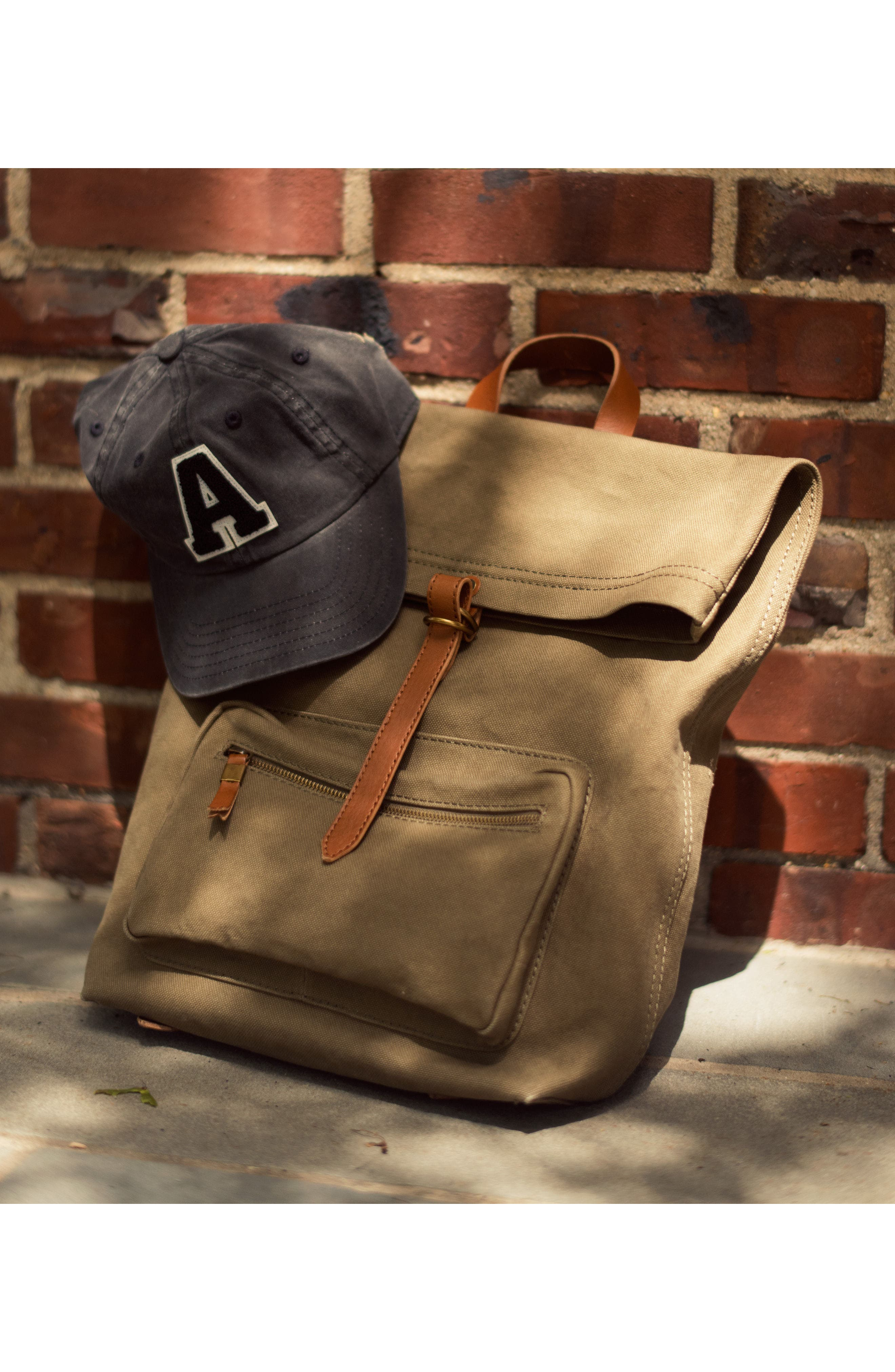 The Canvas Foldover Backpack,                             Alternate thumbnail 7, color,