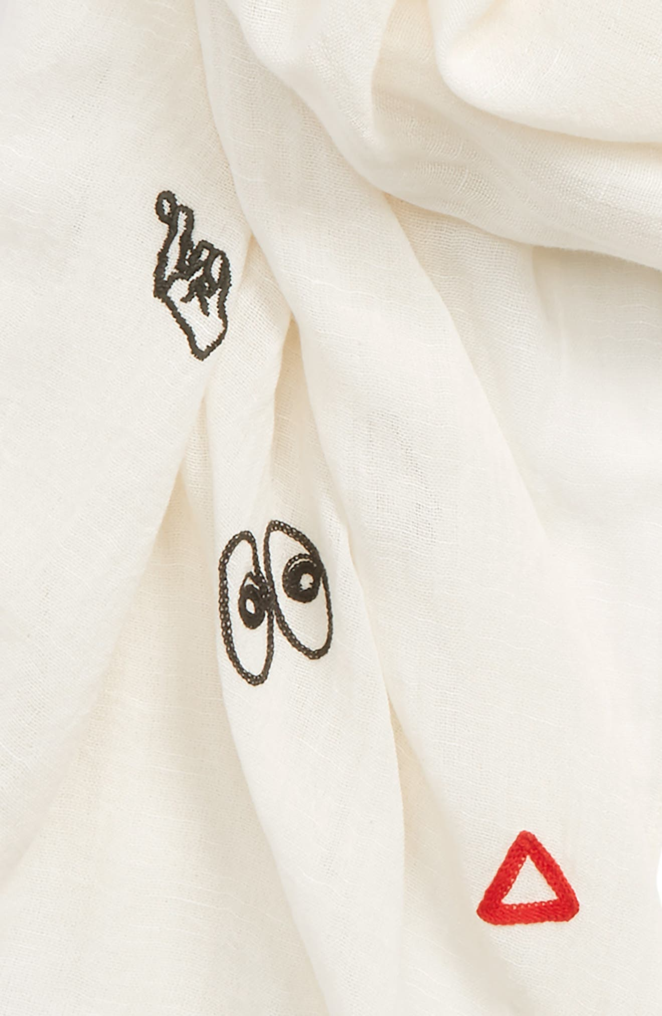Alternate Image 3  - Madewell Embroidered Making Faces Scarf