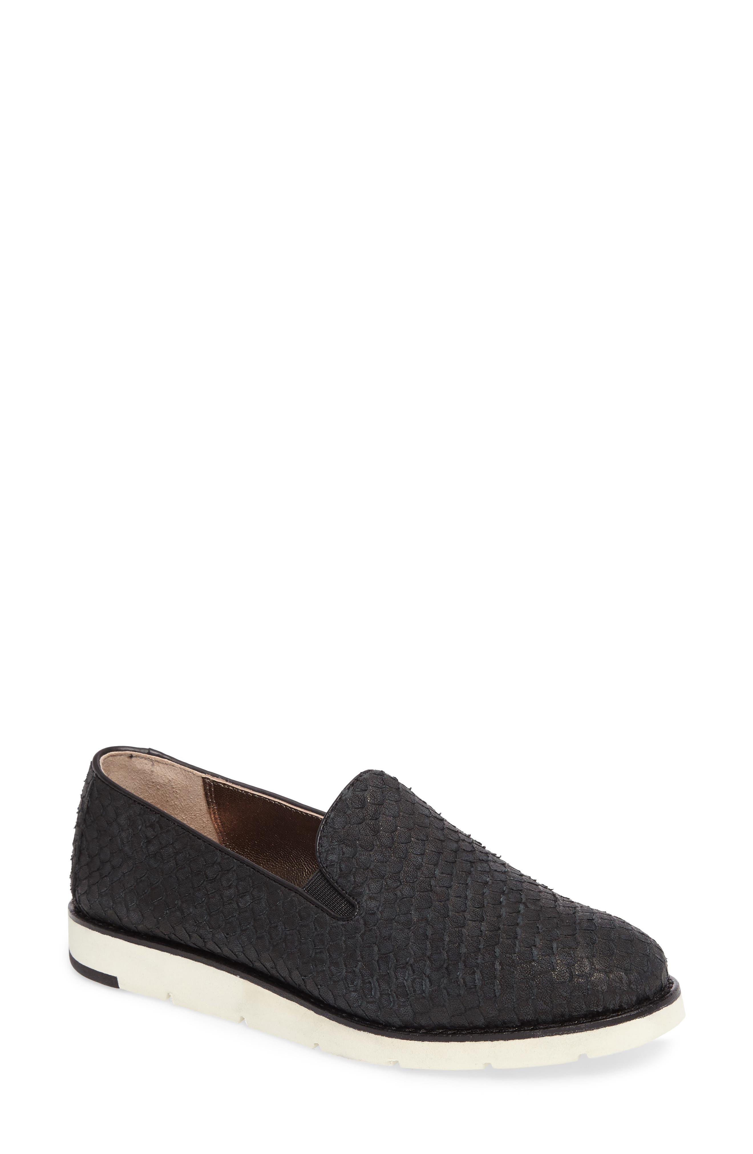 'Paulette' Slip-On Sneaker,                             Main thumbnail 1, color,                             Black Leather