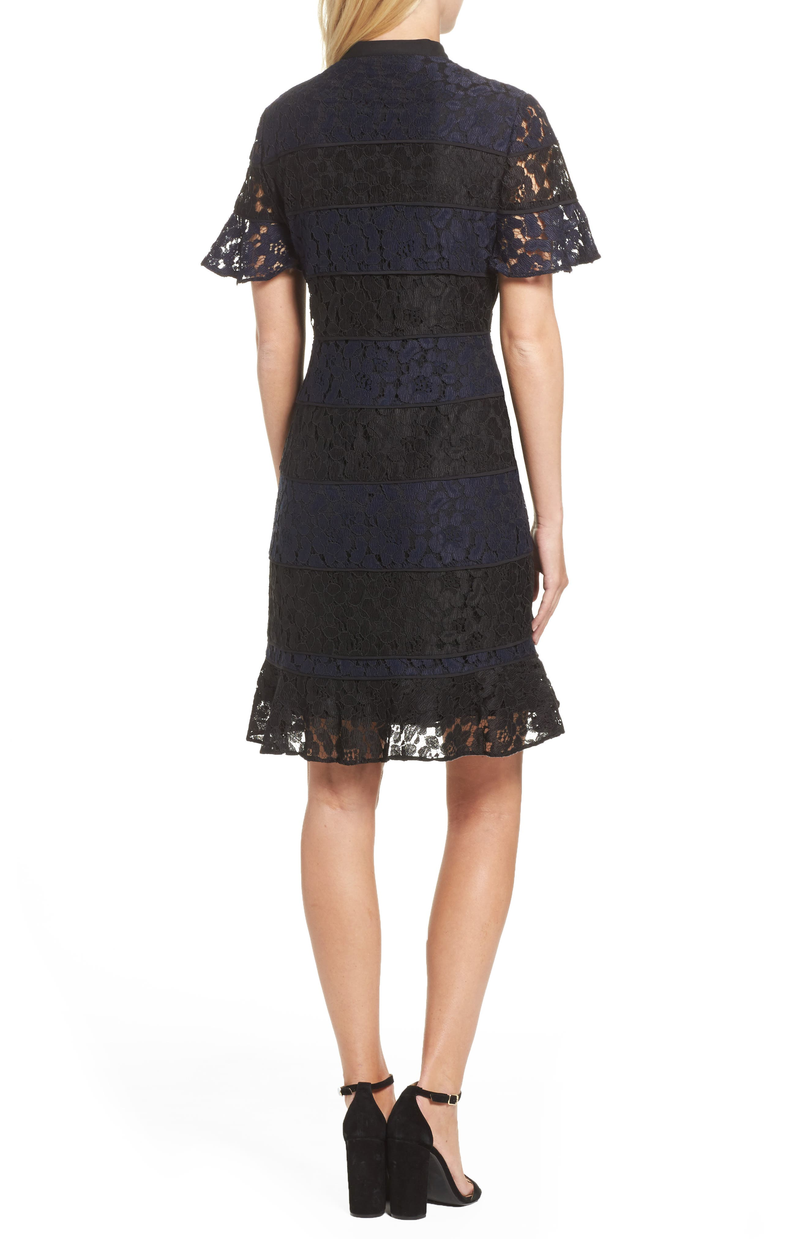 Alternate Image 2  - Julia Jordan Lace Fit & Flare Dress