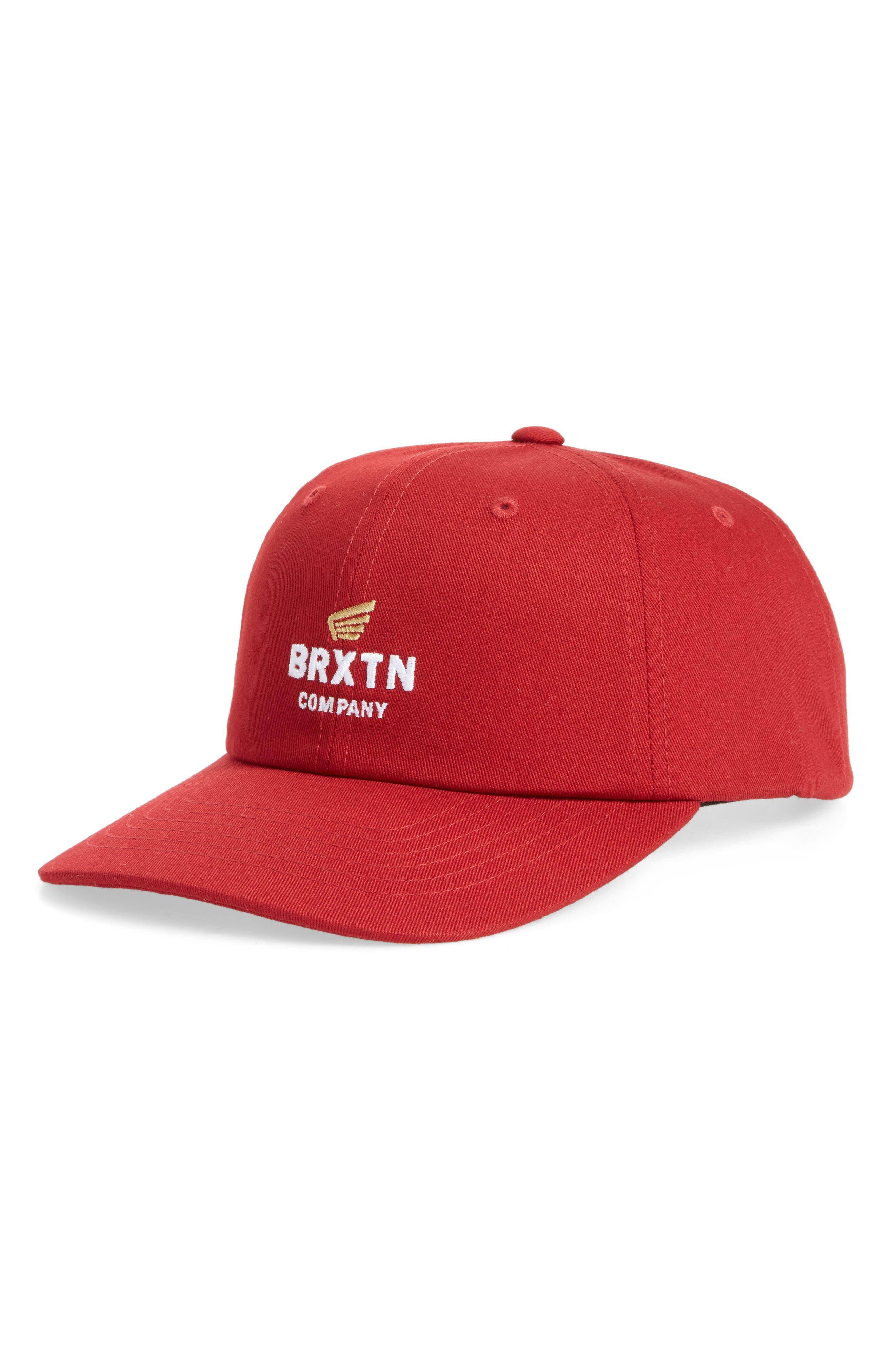 Peabody Ball Cap,                         Main,                         color, Dark Red