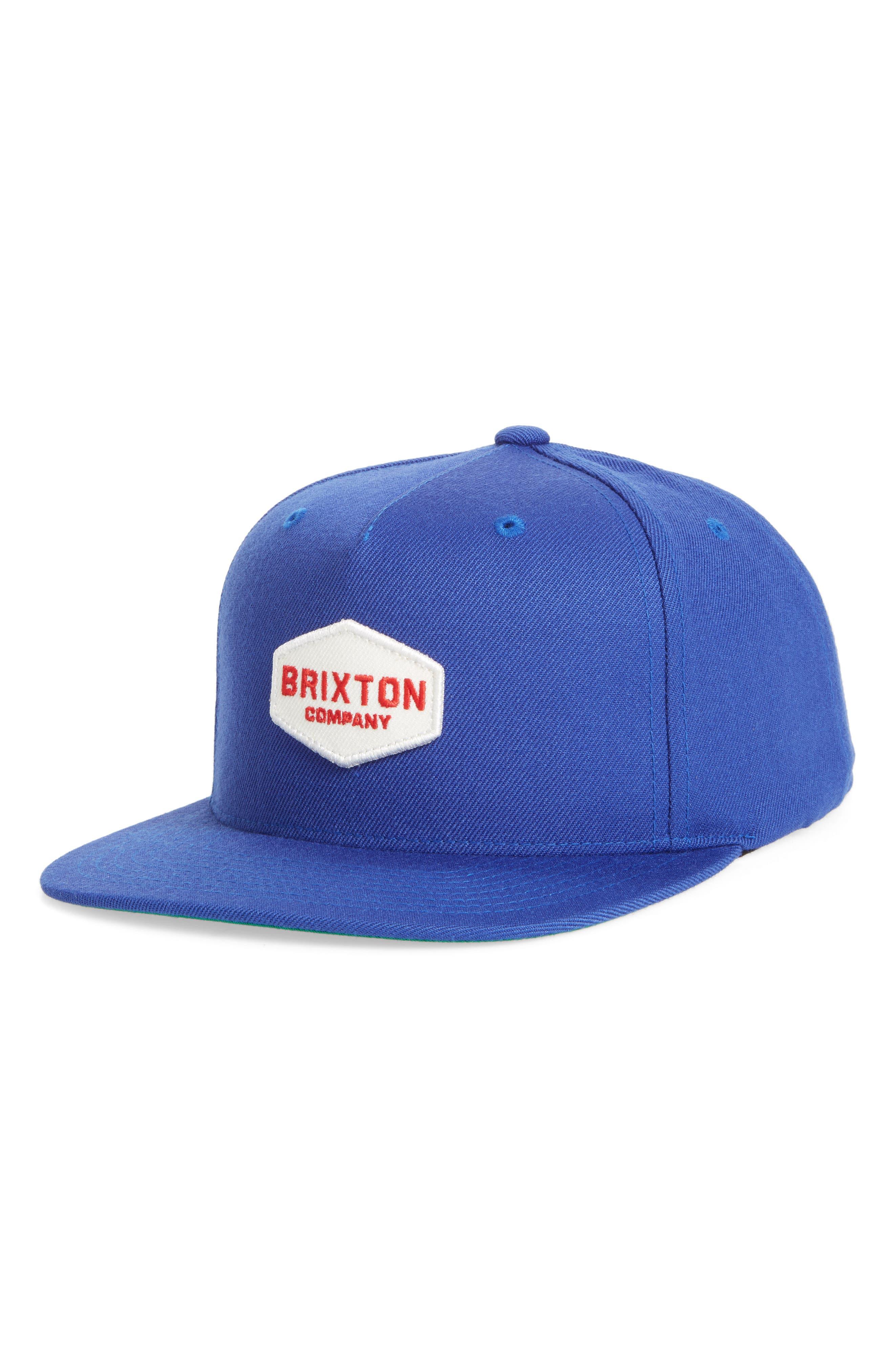 Brighton Obtuse Snapback Baseball Cap,                         Main,                         color, Dark Royal